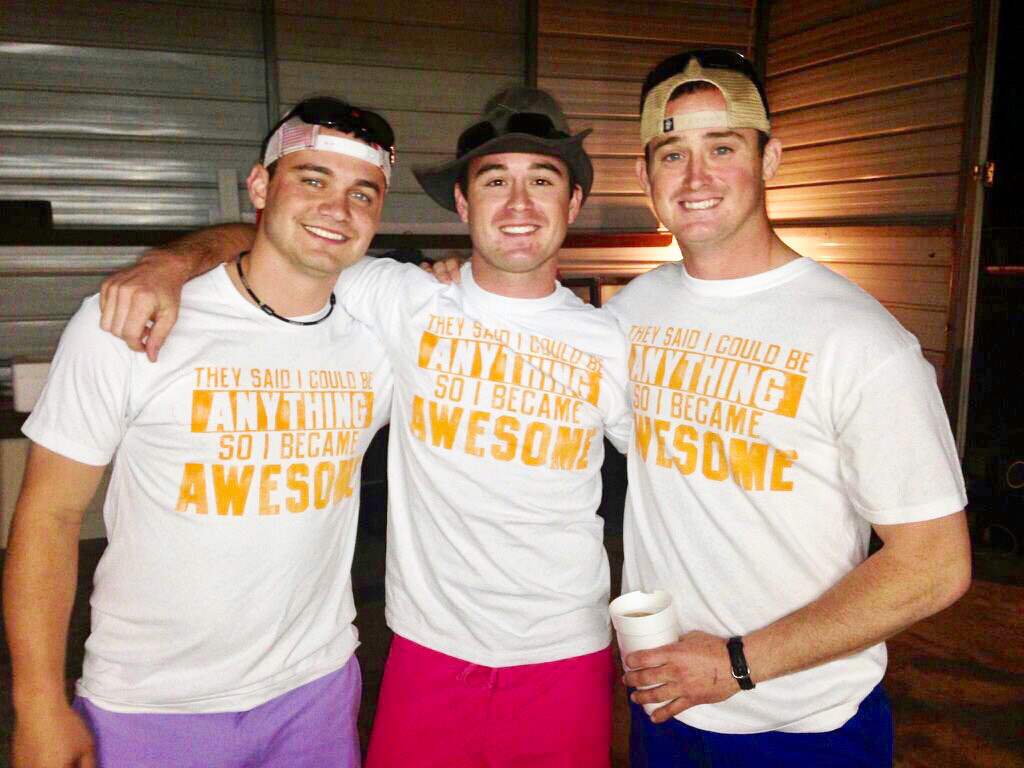 From left to right: Will Wright's friend Alton Bass, Will and Dustin Wright