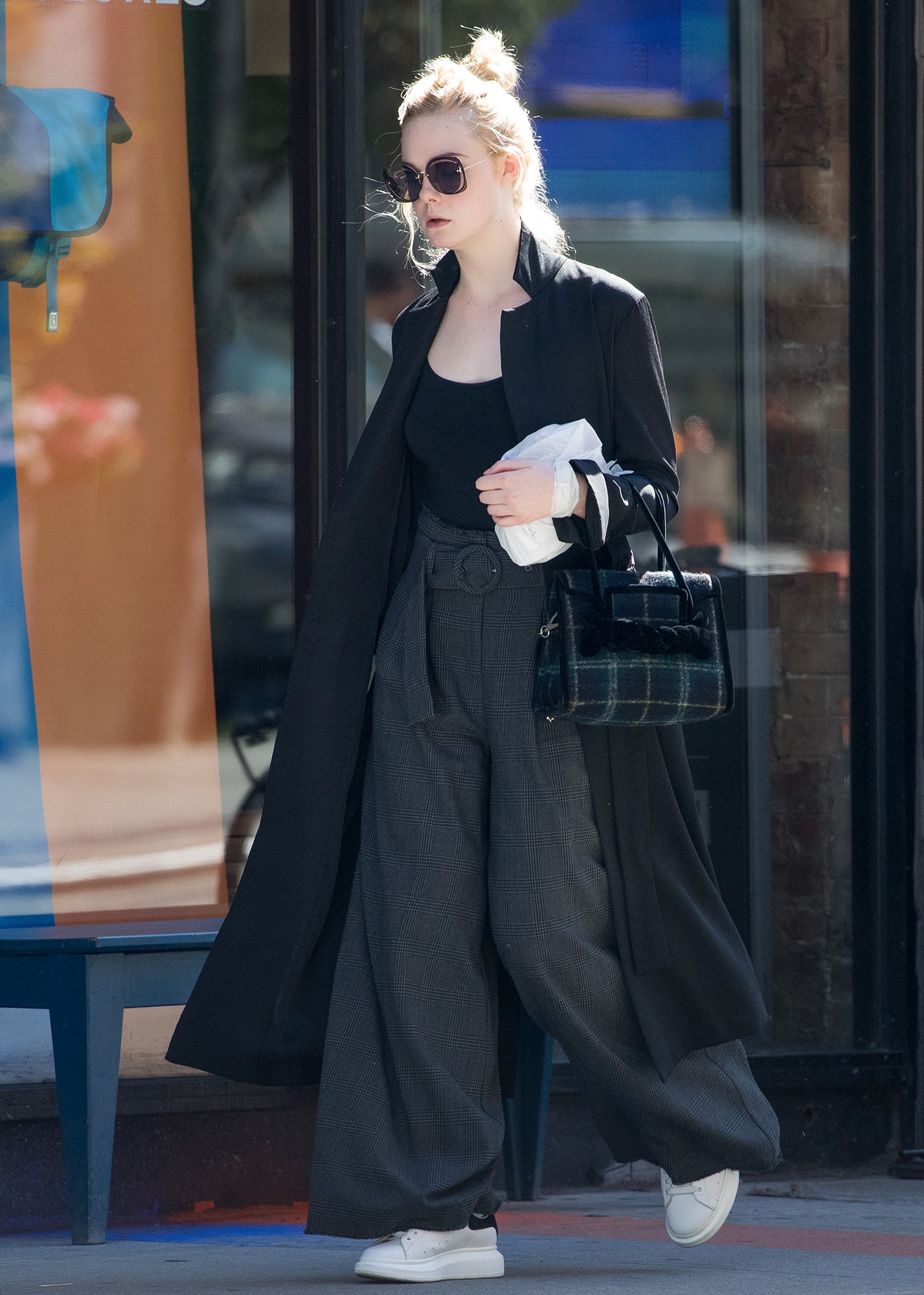 EXCLUSIVE: Elle Fanning seen out and about in NYC
