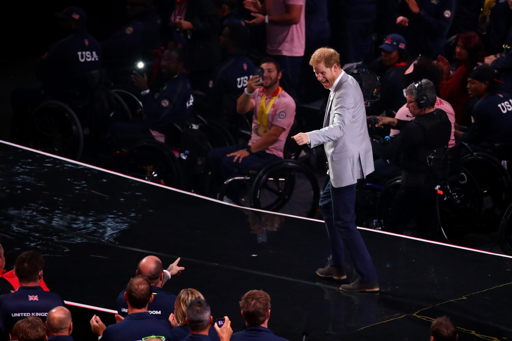 Prince Harry onstage at Invictus Games Closing ceremony 2017