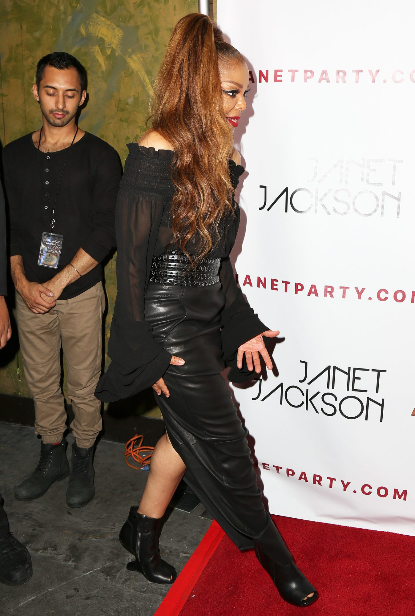 Janet Jackson arrives at her 'State of the World' Tour After Party in Los Angeles