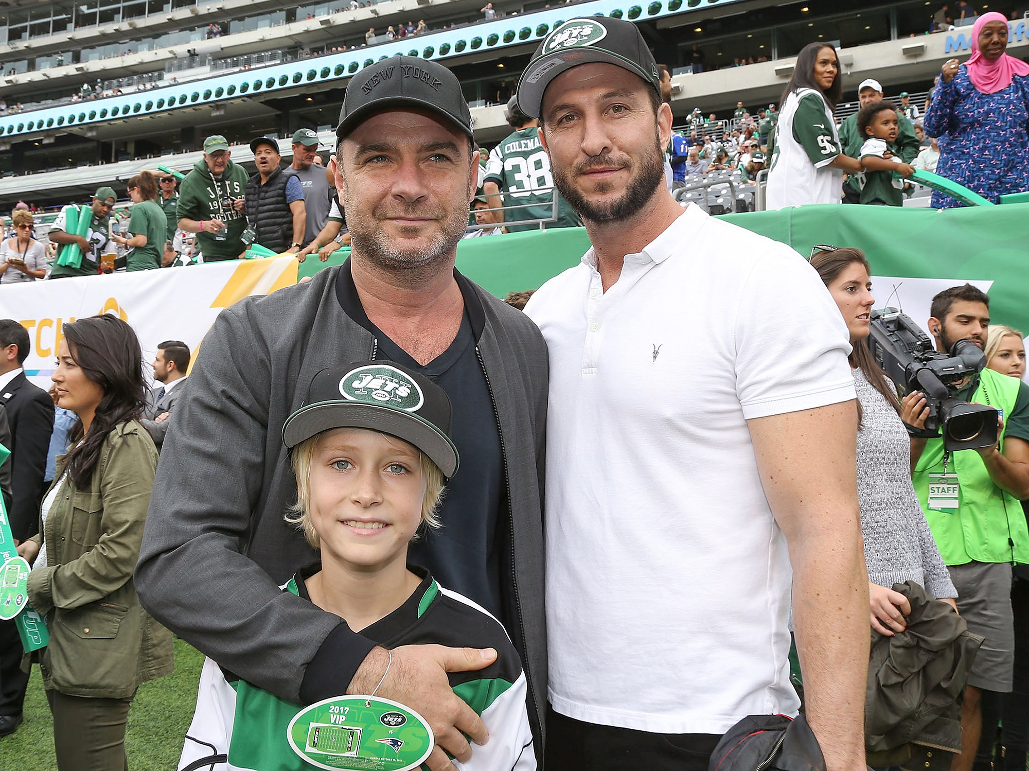 Celebrities Attend The New England Patriots Vs New York Jets Game