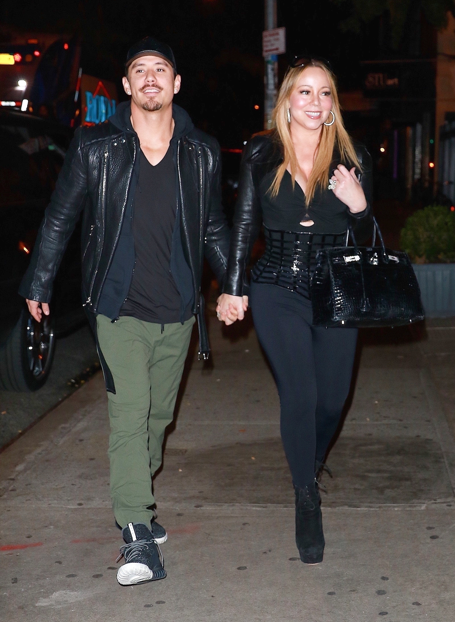*EXCLUSIVE* Mariah Carey and Bryan Tanaka grab a late night bite at Blue Ribbon Brasserie in NYC