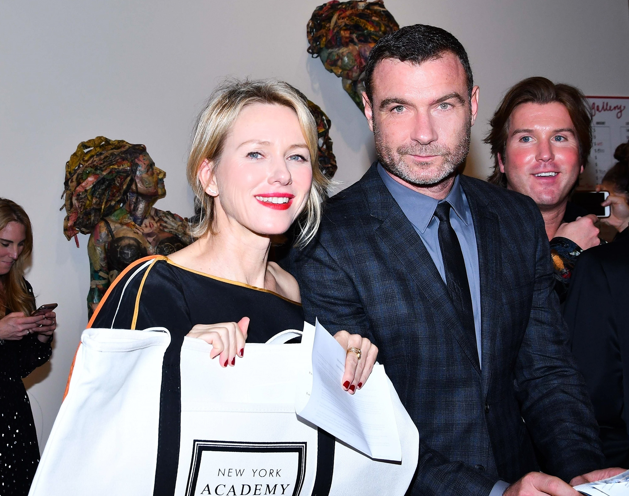*EXCLUSIVE* Naomi Watts and Liev Schreiber have a good day at the Take Home a Nude Art Party and Auction