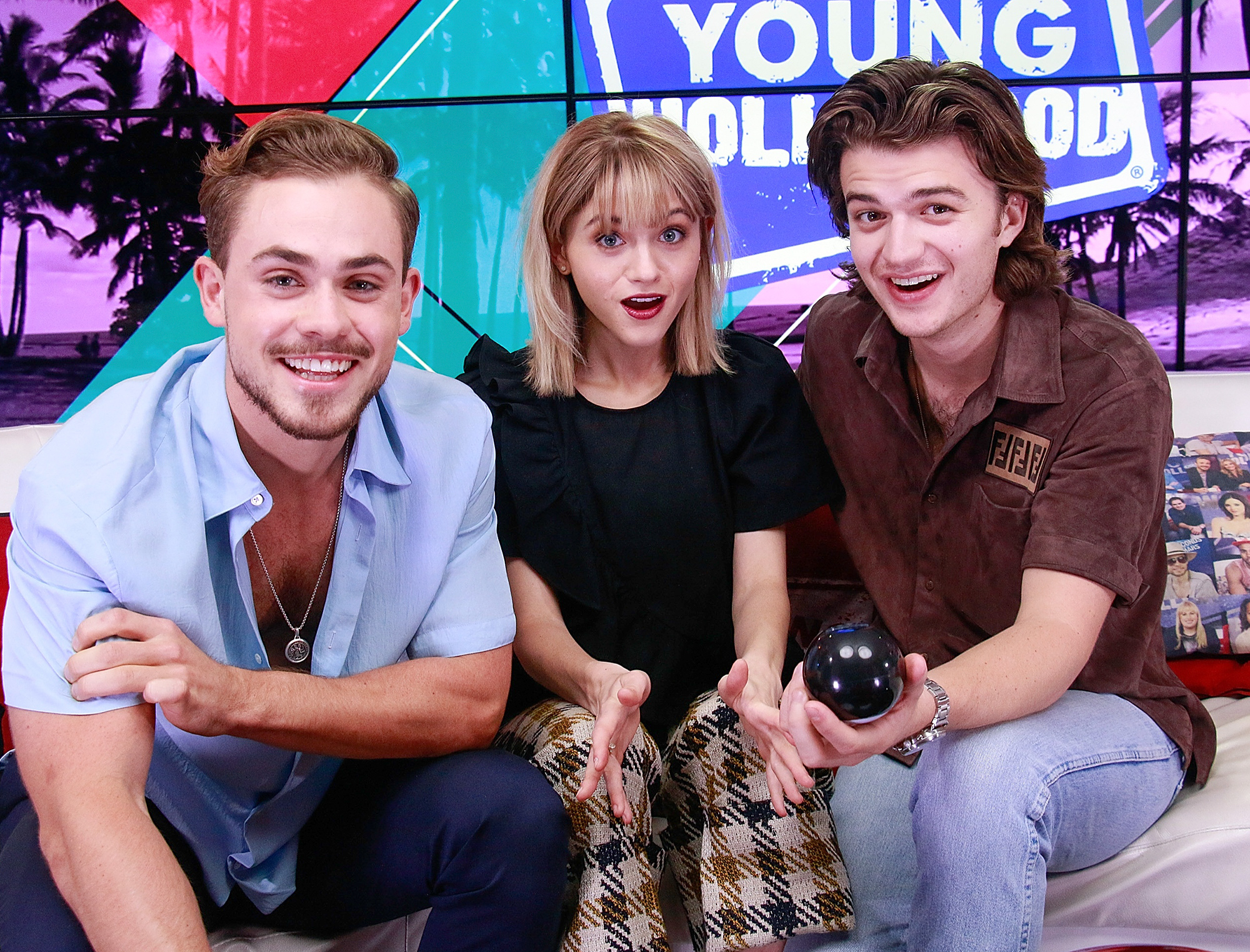 """Cast Of """"Stranger Things"""" Visits Young Hollywood Studio"""