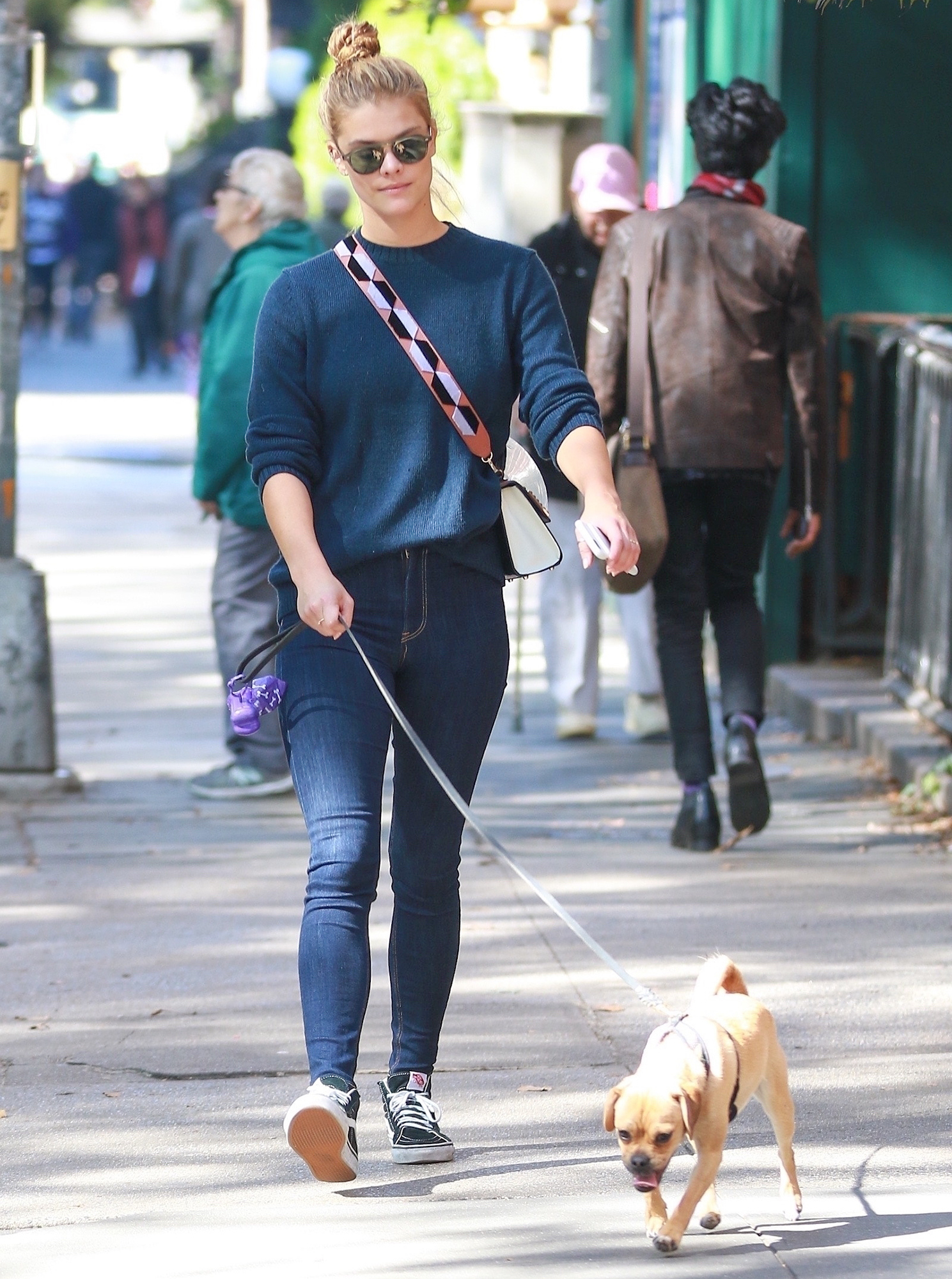 *EXCLUSIVE* Nina Agdal out walking her dog in Washington Square Park