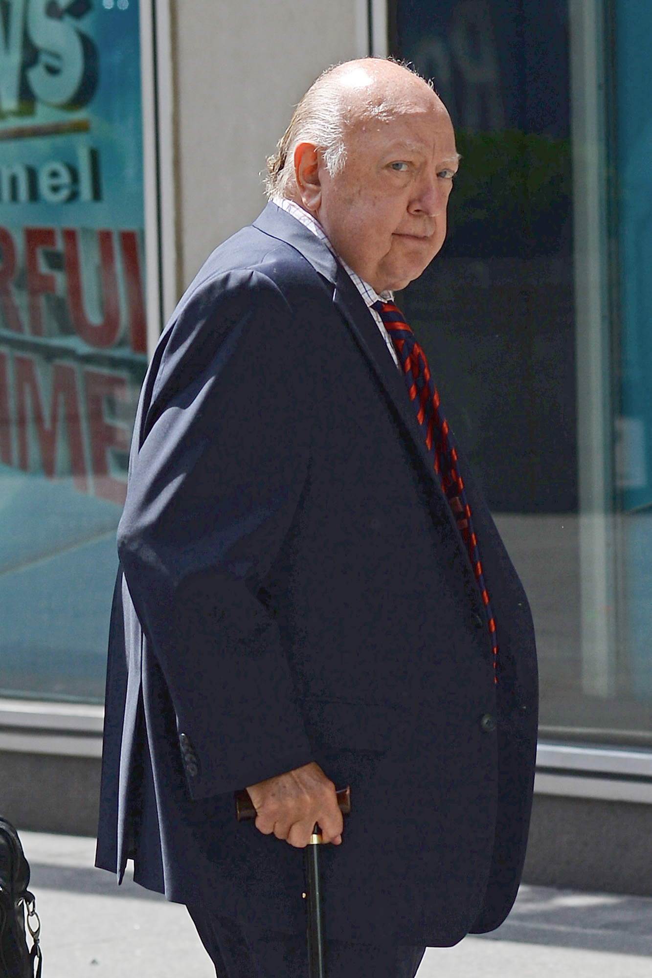 Grab Cut Insert Cut Fox News CEO Roger Ailes Heads To Work Amidst Sexual Harrassment Claims