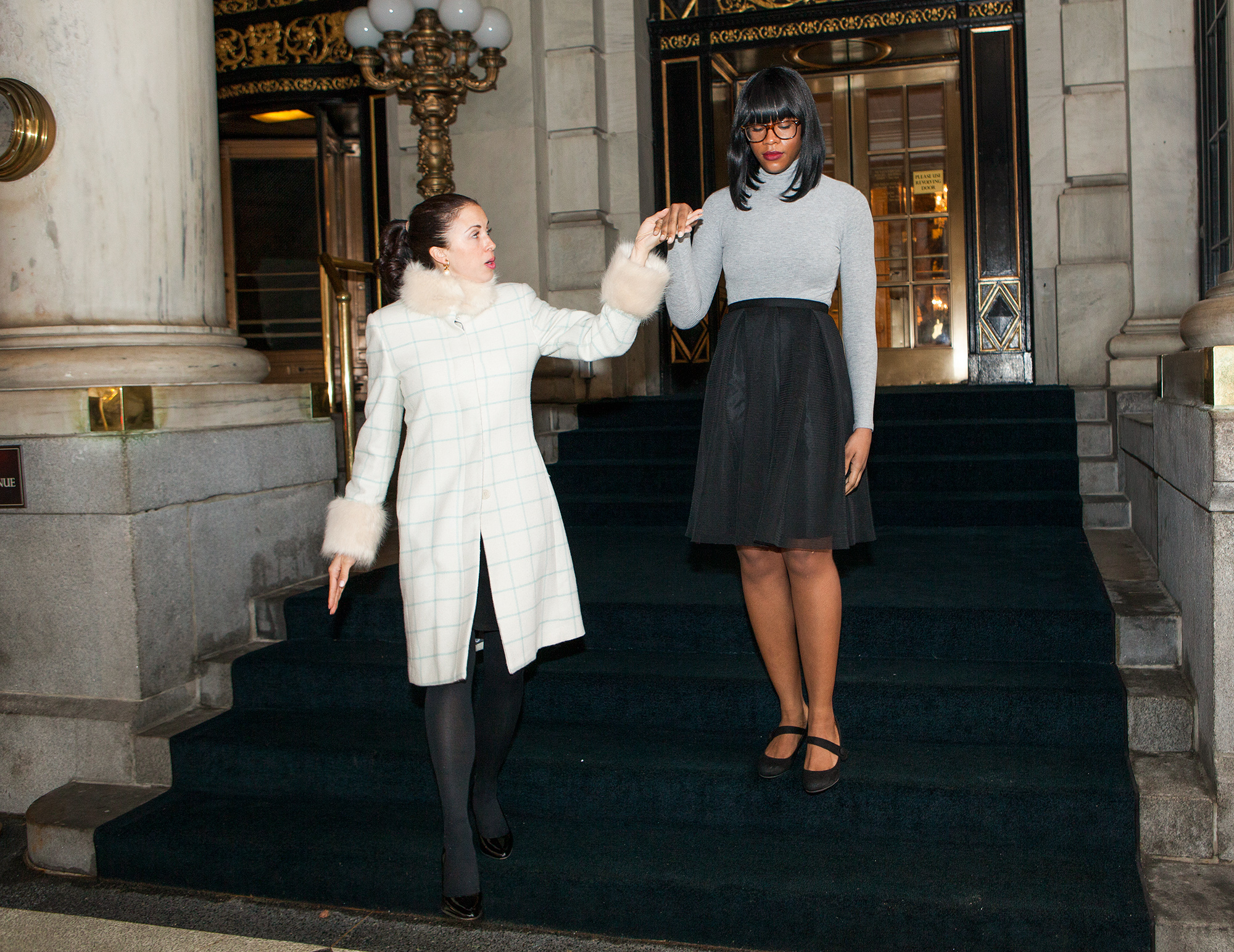 People,com editor Char Adams Royal Etiquette training at the Plaza Hotel in New York City on Jan 17, 2017.