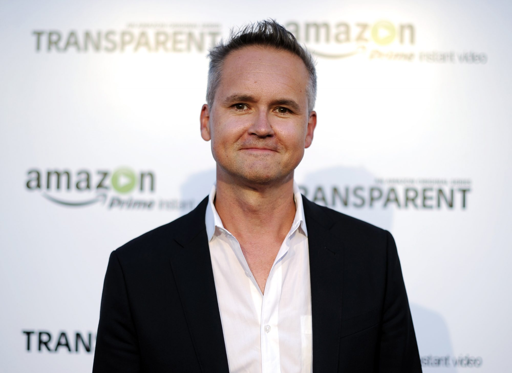 "Price poses during Amazon's premiere screening of ""Transparent"" in downtown Los Angeles"