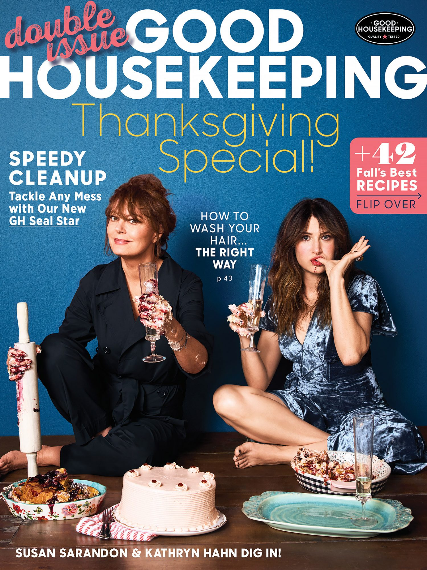 Susan Sarandon +Kathryn Hahn - Good HousekeepingPhoto: Chris Craymer