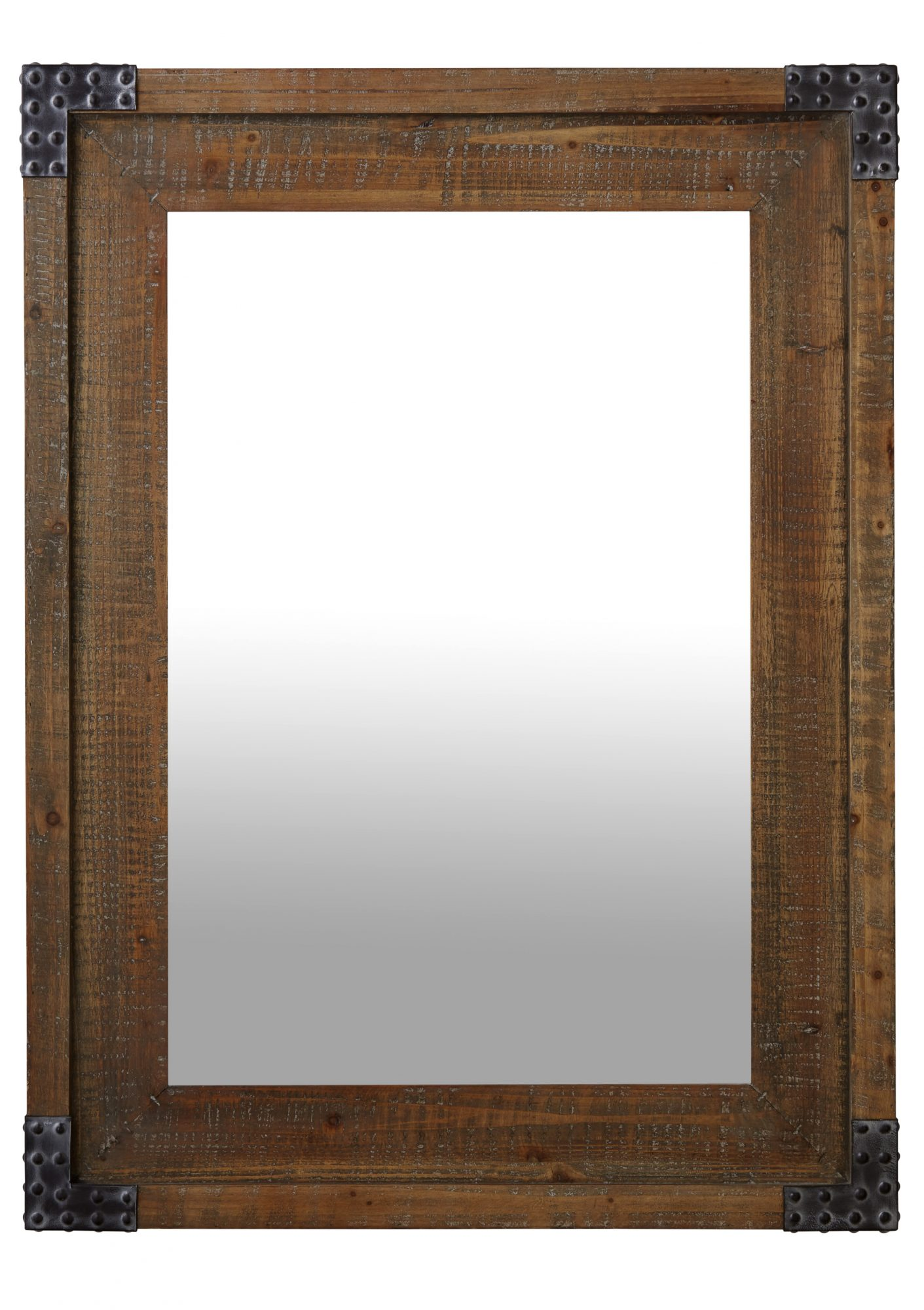 allen + roth Reclaimed Wood Beveled Wall Mirror