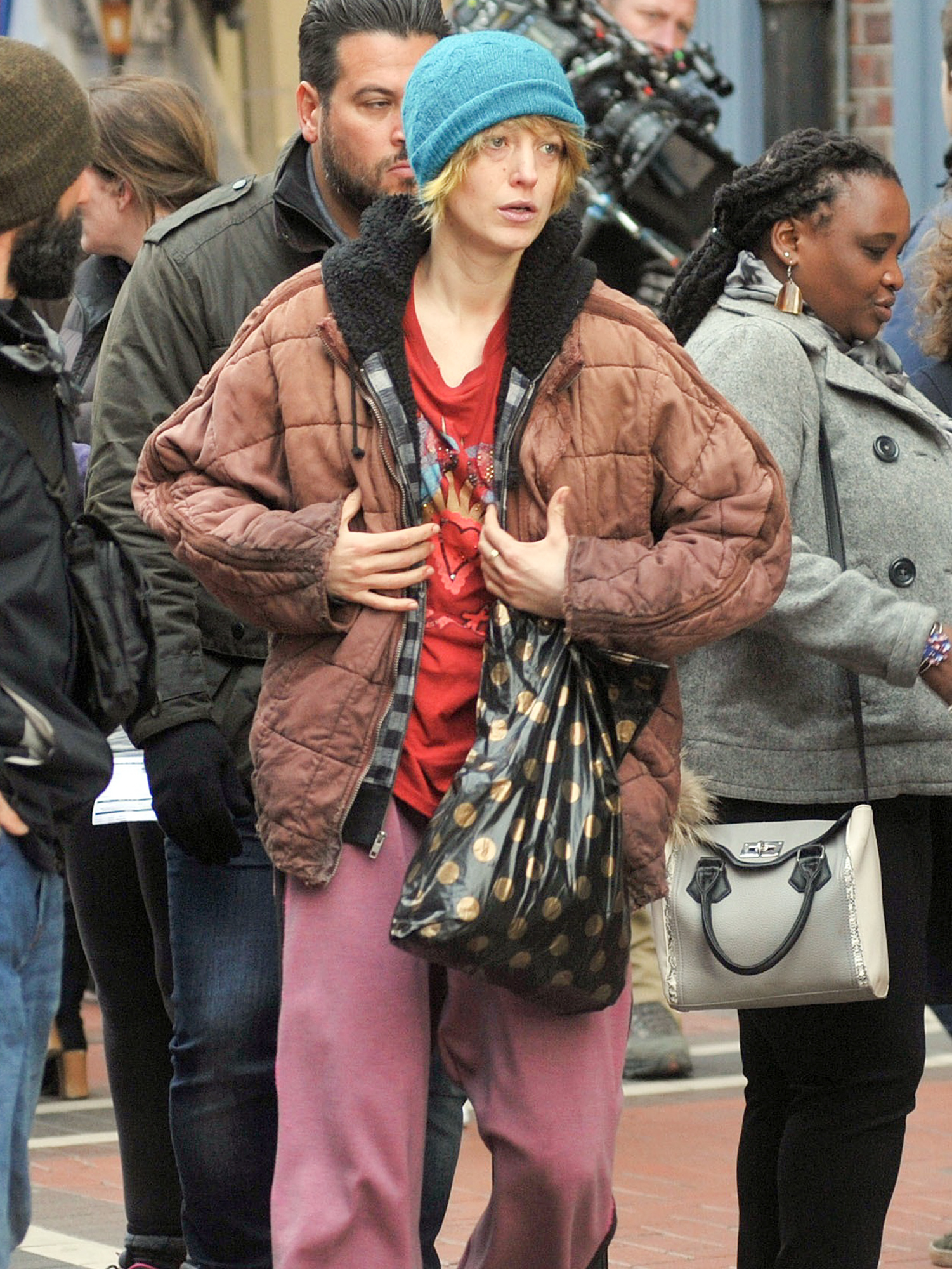 Hollywood Actress Blake Lively On Day Two Of Filming For New Movie The Rhythm Section In Dublin