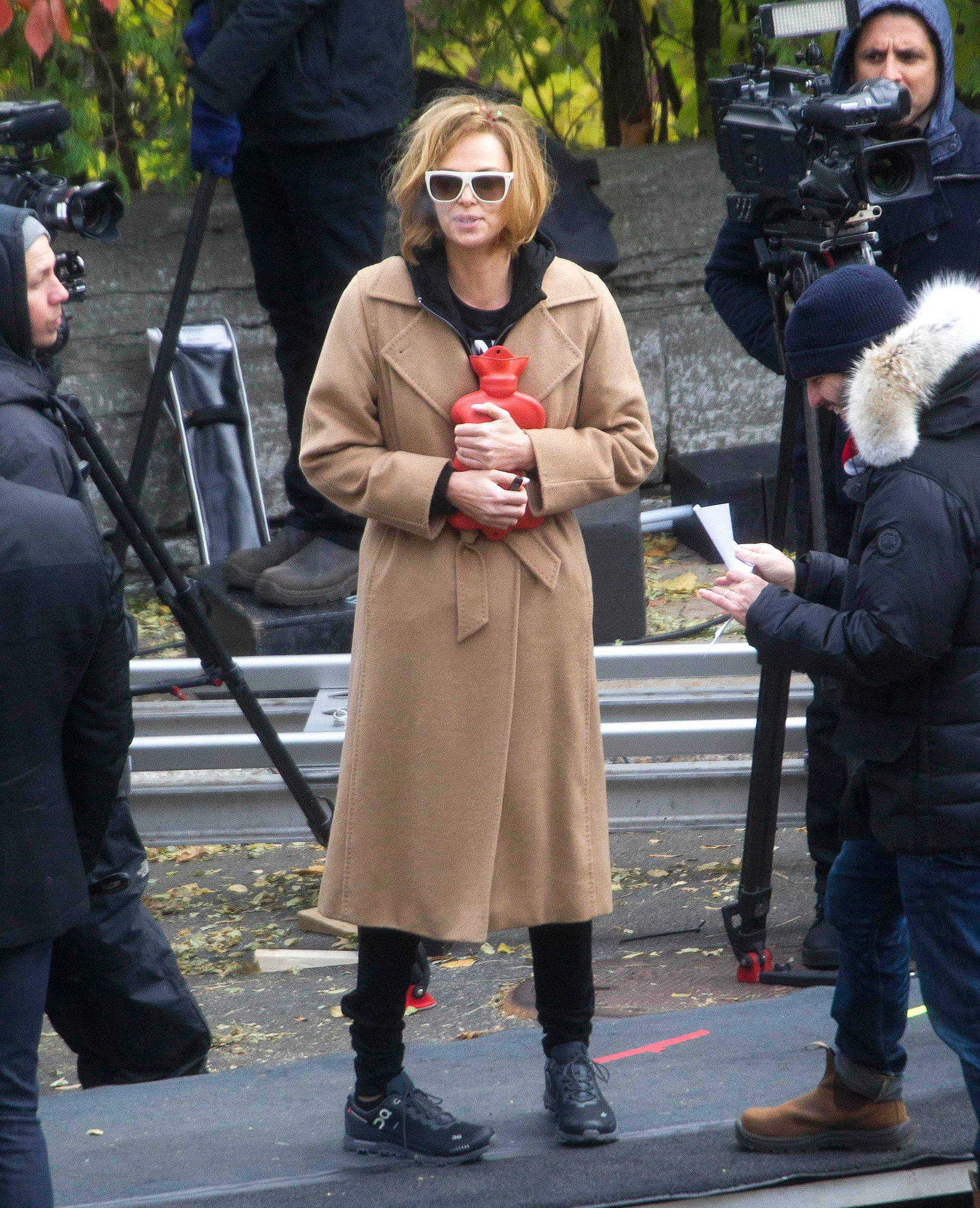 EXCLUSIVE: Charlize Theron is Spotted Smoking an Electronic Cigarette While filming in Montreal