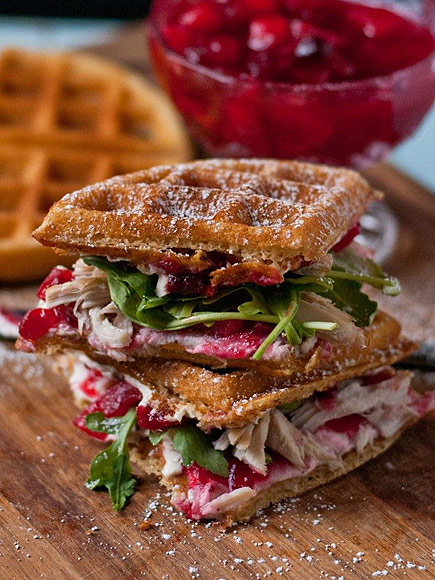 WAFFLED CRANBERRY CREAM CHEESE