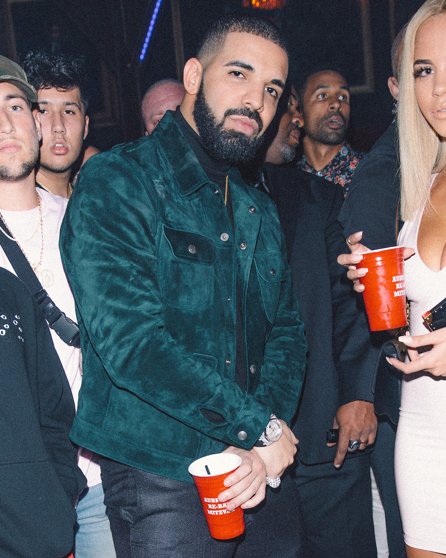 EXCLUSIVE: Drake Celebrates 31st Birthday at Poppy in West Hollywood