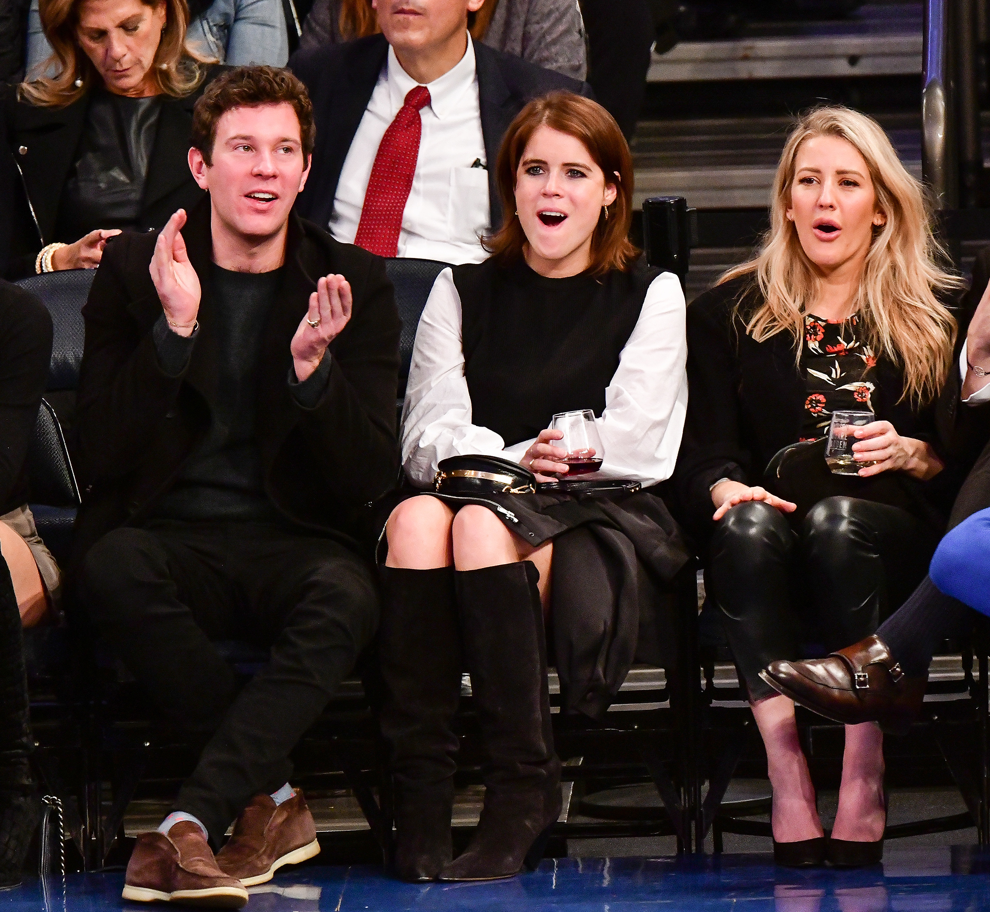 Celebrities Attend The Brooklyn Nets Vs New York Knicks Game - October 27, 2017