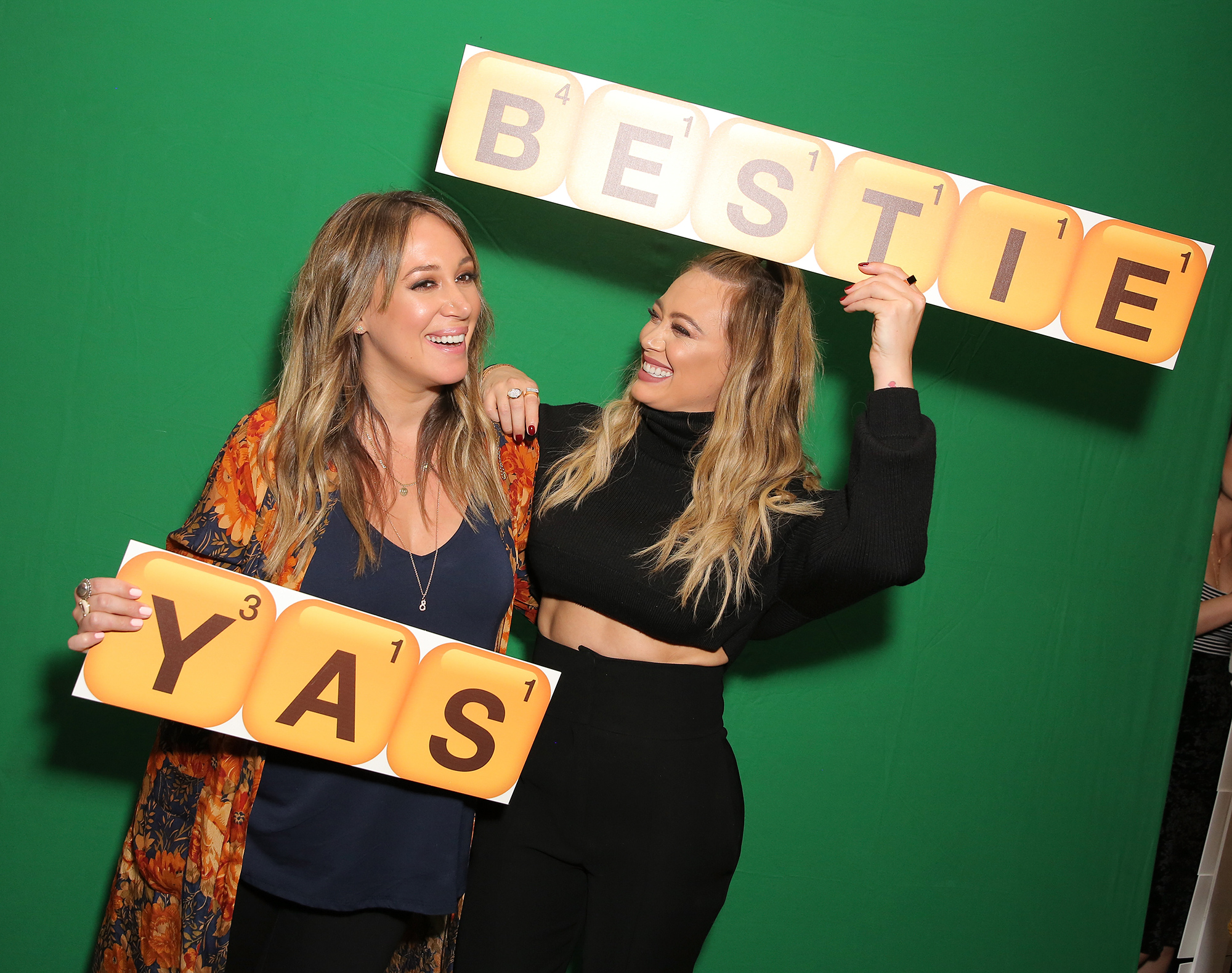Hilary and Haylie Duff Host the Launch of Words with Friends 2 at Norah Restaurant