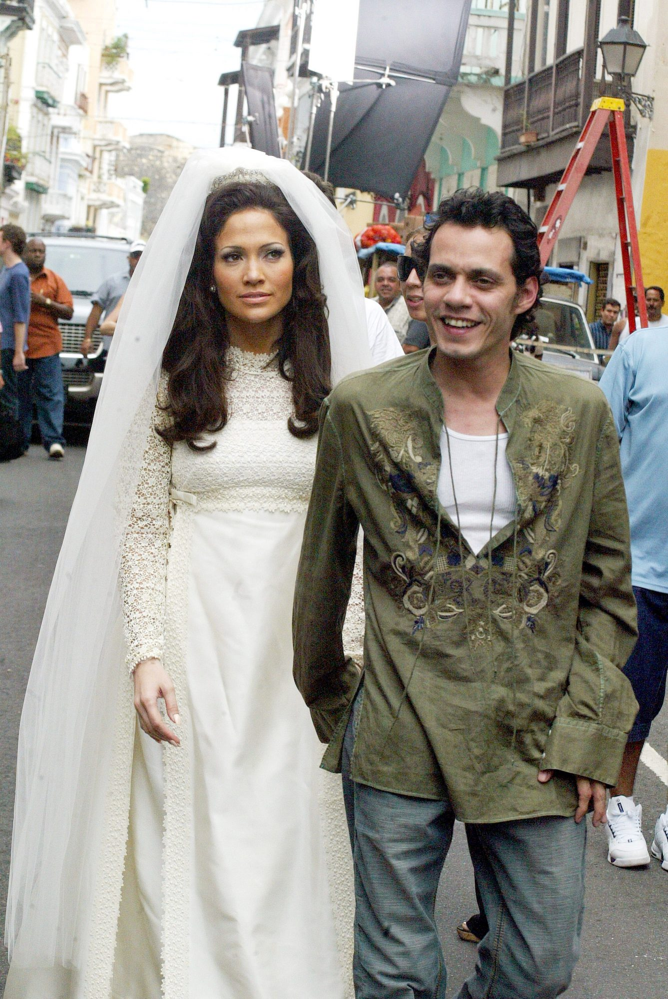 """Jennifer Lopez and Marc Anthony on Location for """"El Cantante"""" in Puerto Rico -  Day 1"""