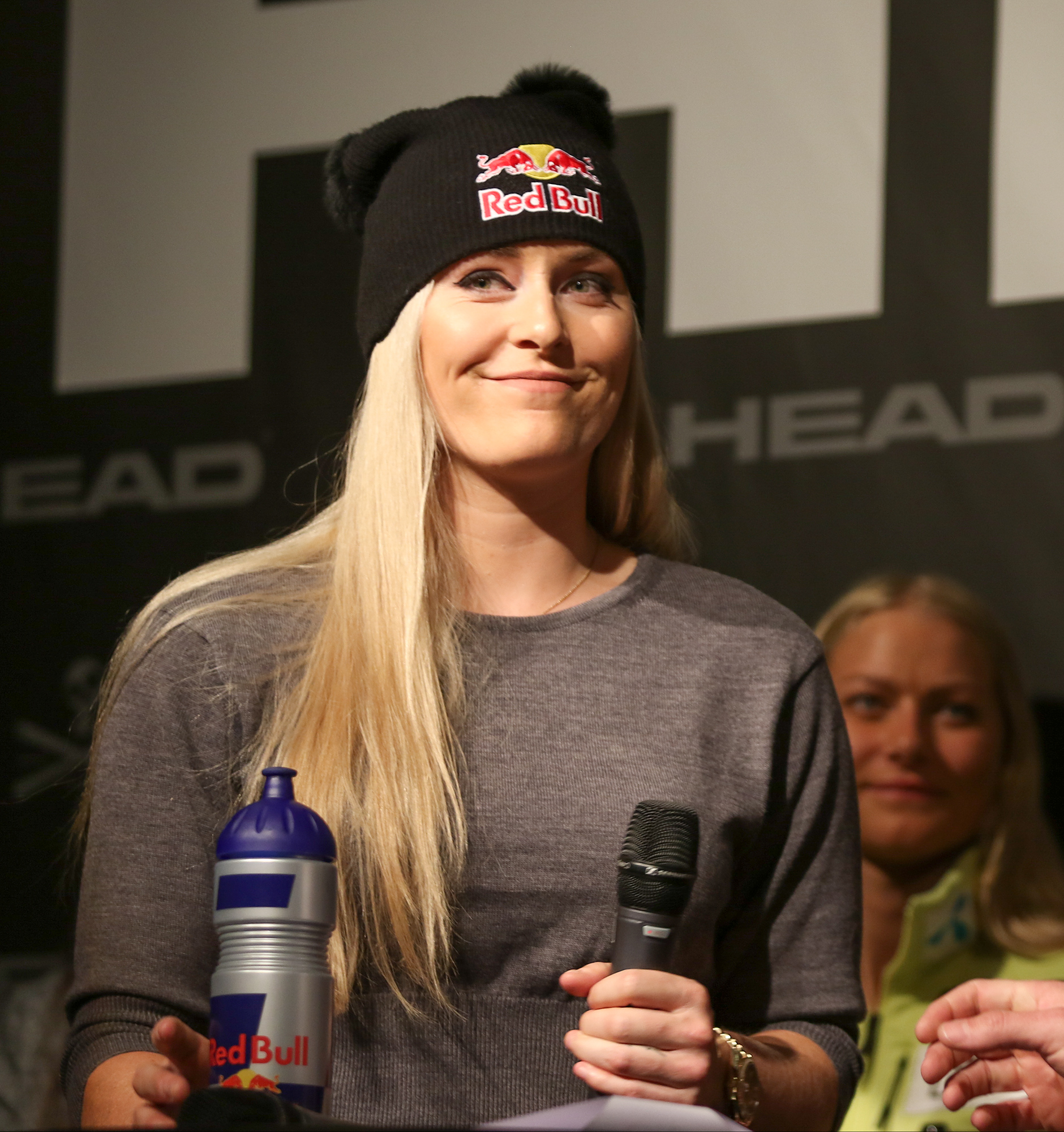 American Lindsey Vonn in Austria at Head Skis press conference