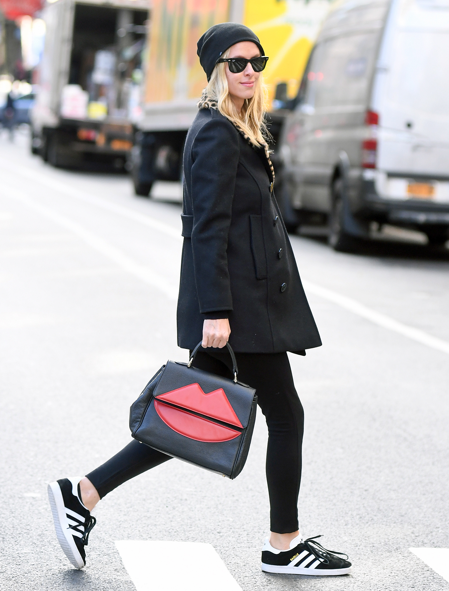 Nicky Hilton steps out for a walk in the city this morning