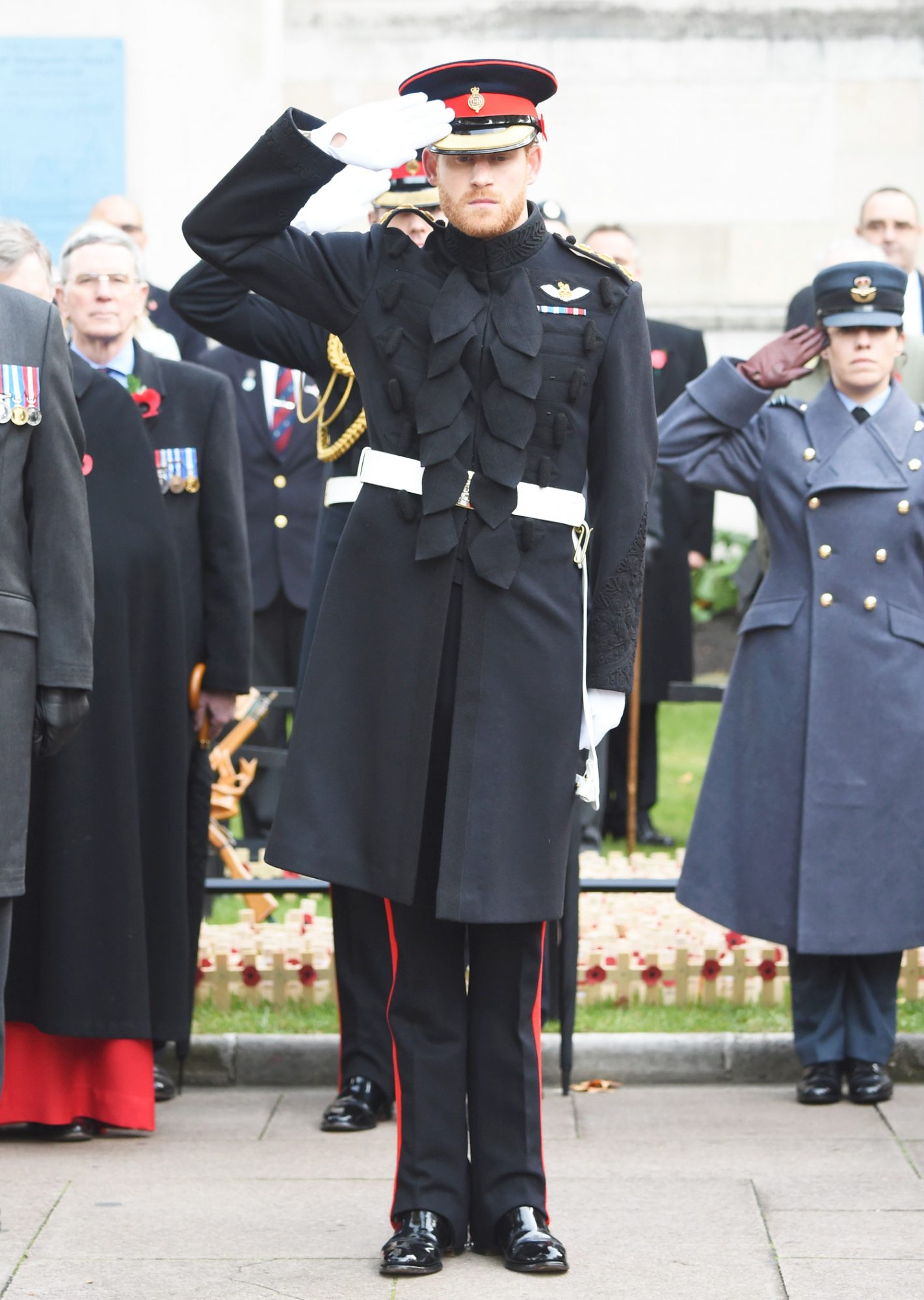 Prince Harry Visits The Field Of Remembrance At Westminster Abbey