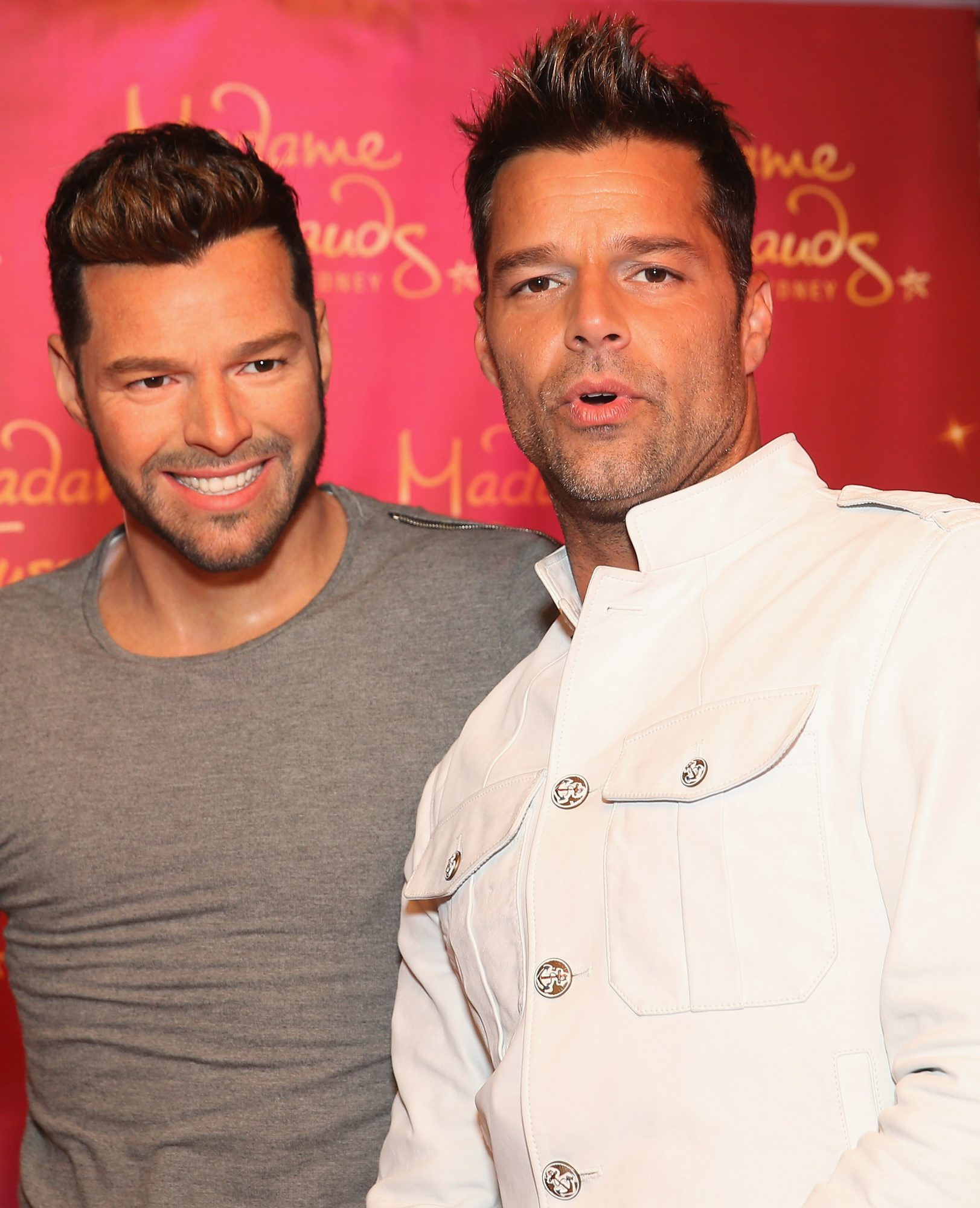 Ricky Martin Meets His Wax Figure