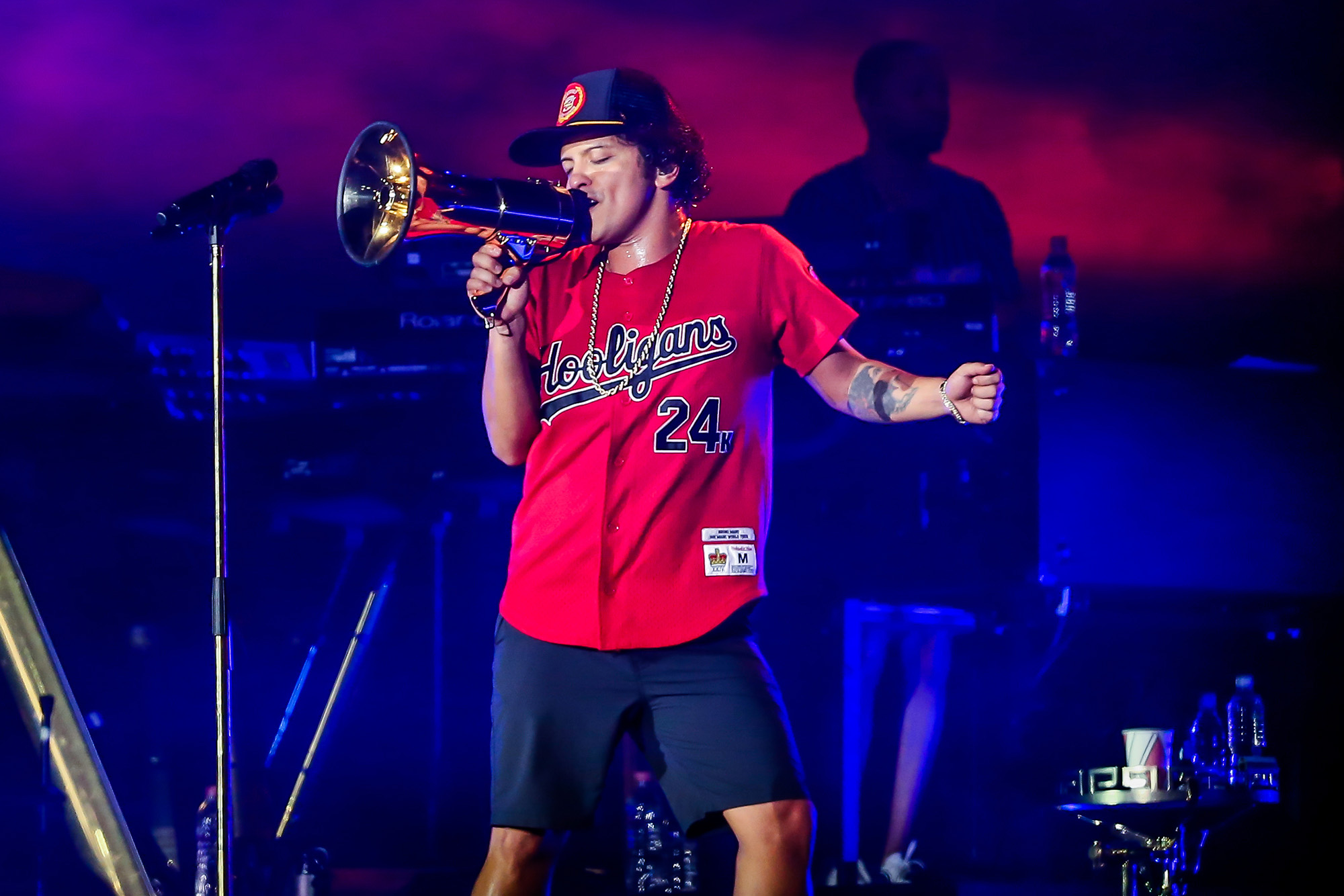 Bruno Mars rocks out at show in Sao Paulo, Brazil