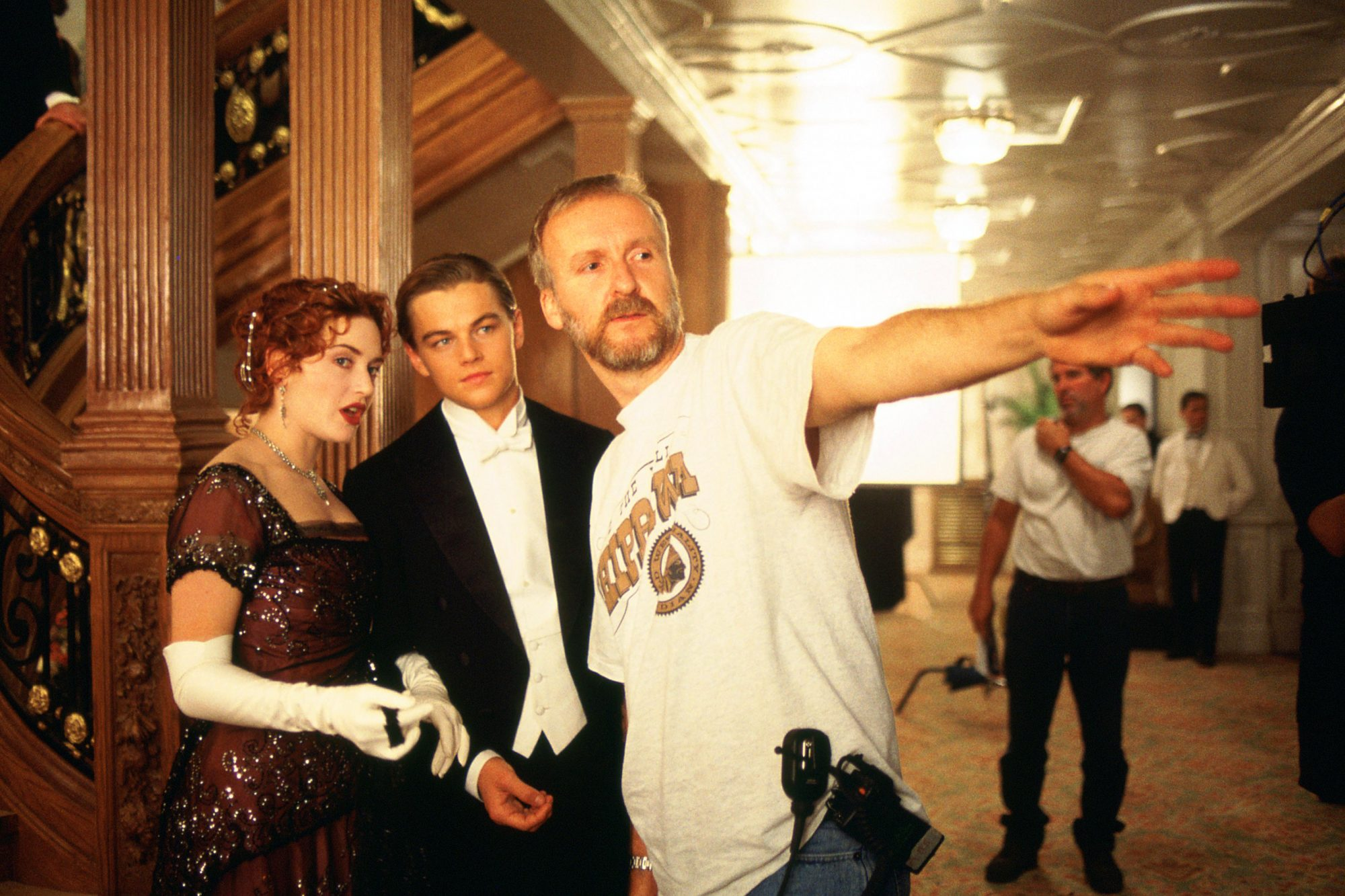 TITANIC, Kate Winslet, Leonardo Di Caprio, director James Cameron, 1997, TM and Copyright (c) 20th C