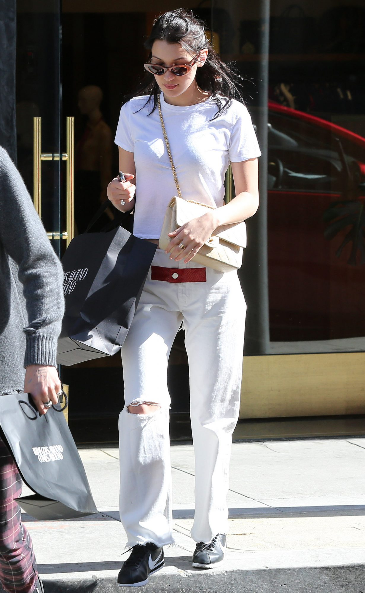 Bella Hadid indulges in the retail experience with her brother