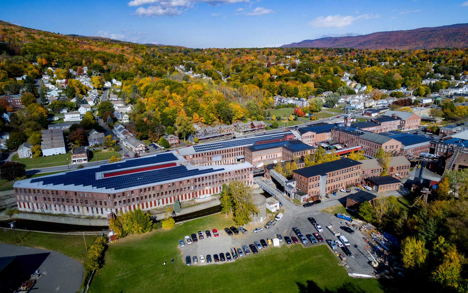 View of Building 6 at MASS MoCA, in the Berkshires area of Massachusetts
