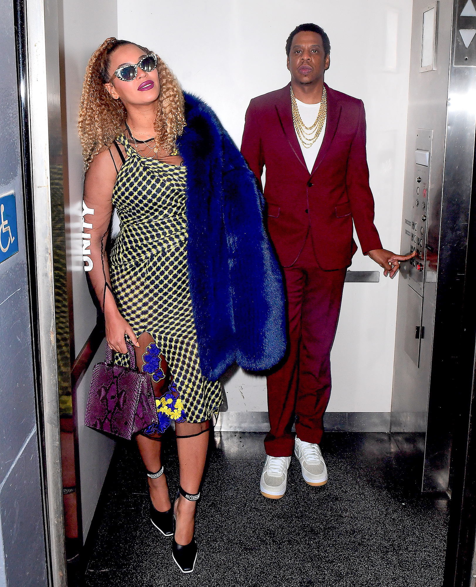 Beyonce and Jay Z Pose for Iconic Elevator Photoshoot for his Birthday in NYC