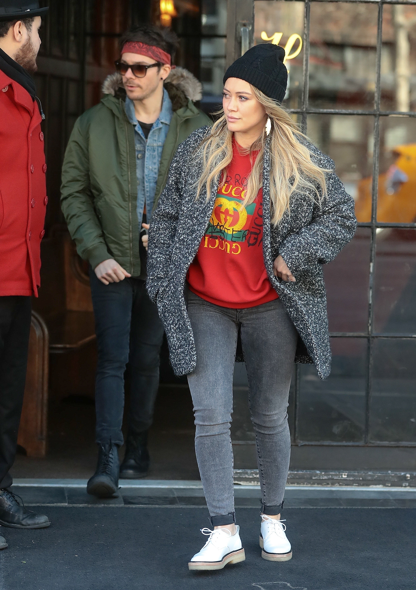 *EXCLUSIVE* Hilary Duff and Matthew Koma bundled up for the shortest day of the year