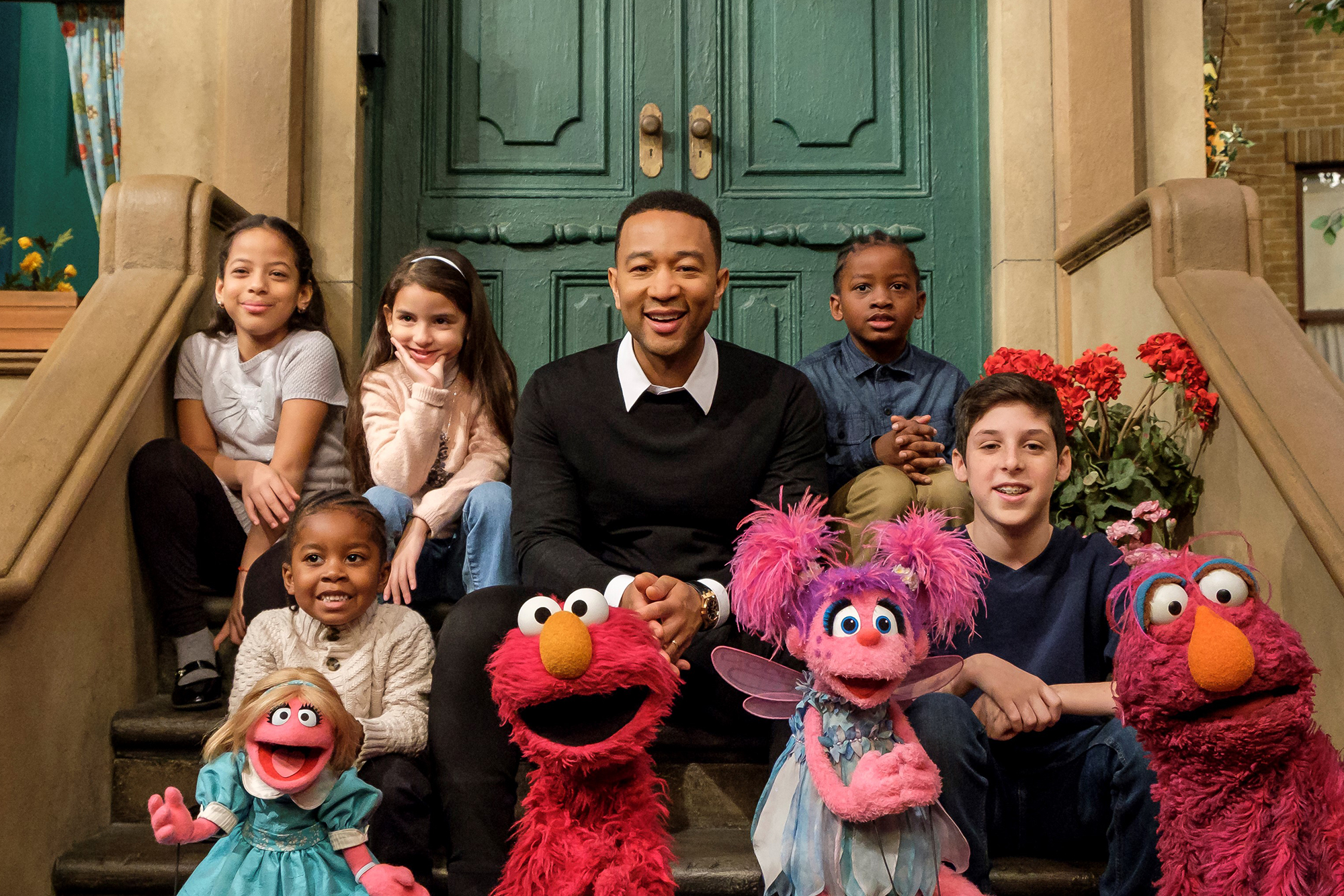 John Legend Sesame StreetCredit: Zach Hyman/Sesame Workshop