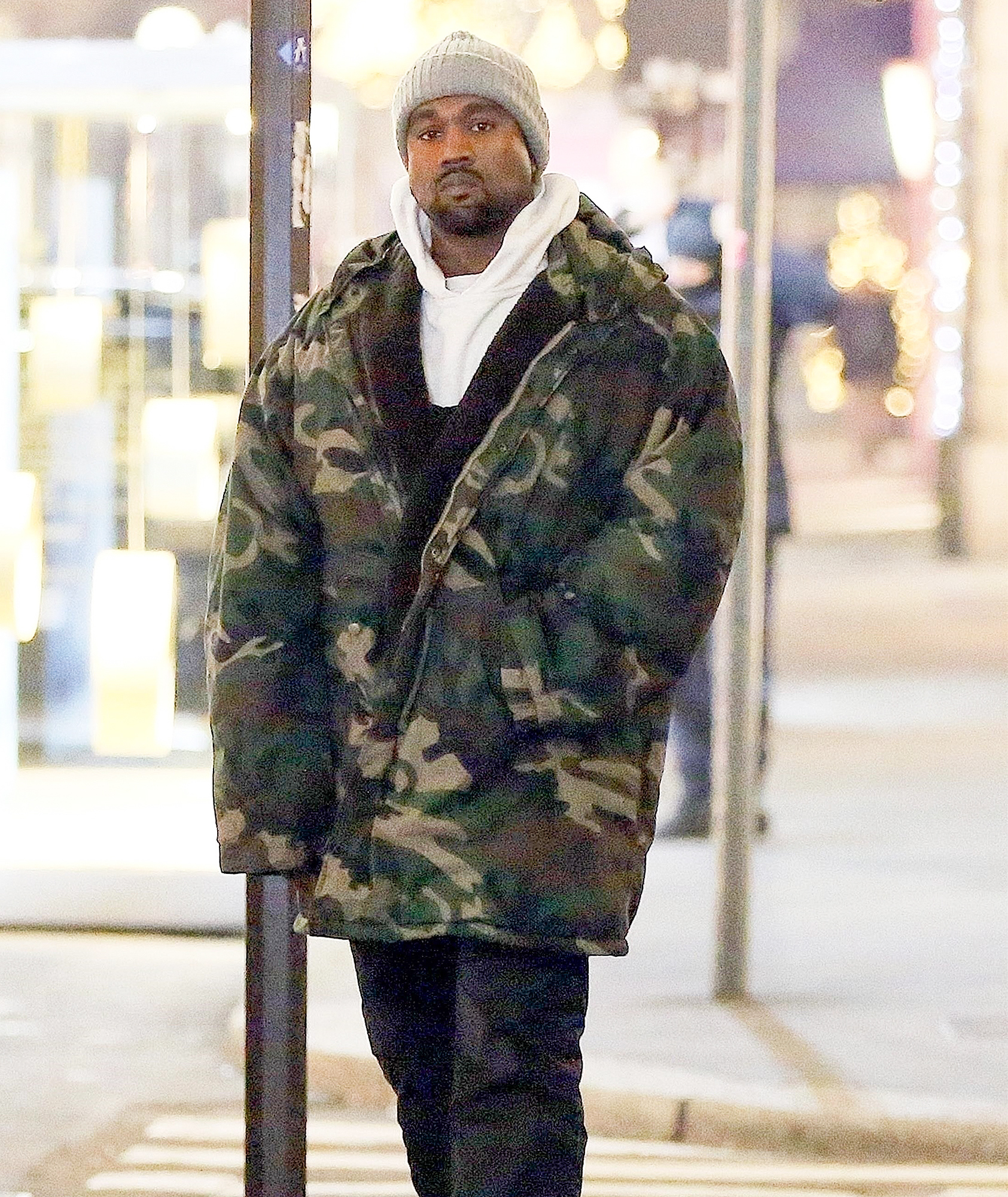 *EXCLUSIVE* Kanye West spends the day in Milan working