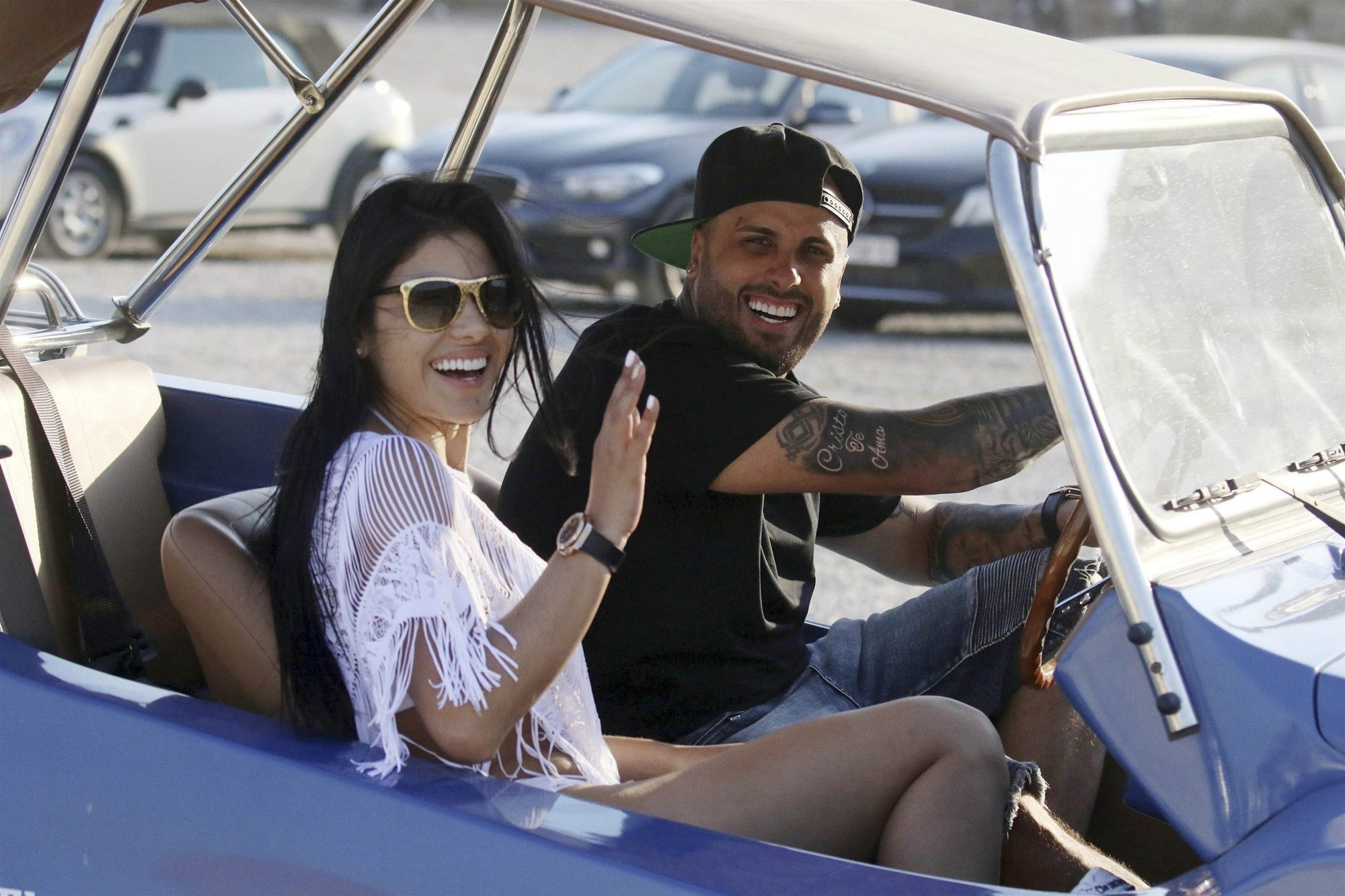 EXCLUSIVE Nicky Jam and his Wife Angelica Cruz On Vacation in Mykonos