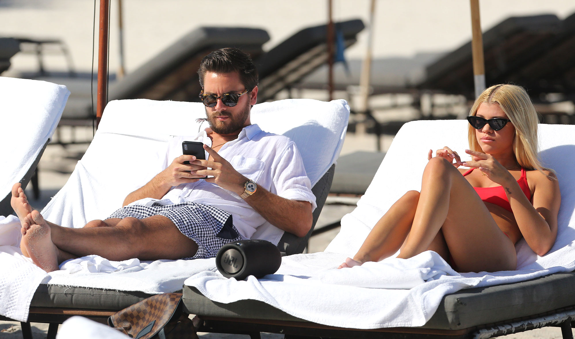 Scott Disick and Sofia Richie Enjoy Their Beachside Vacation Together