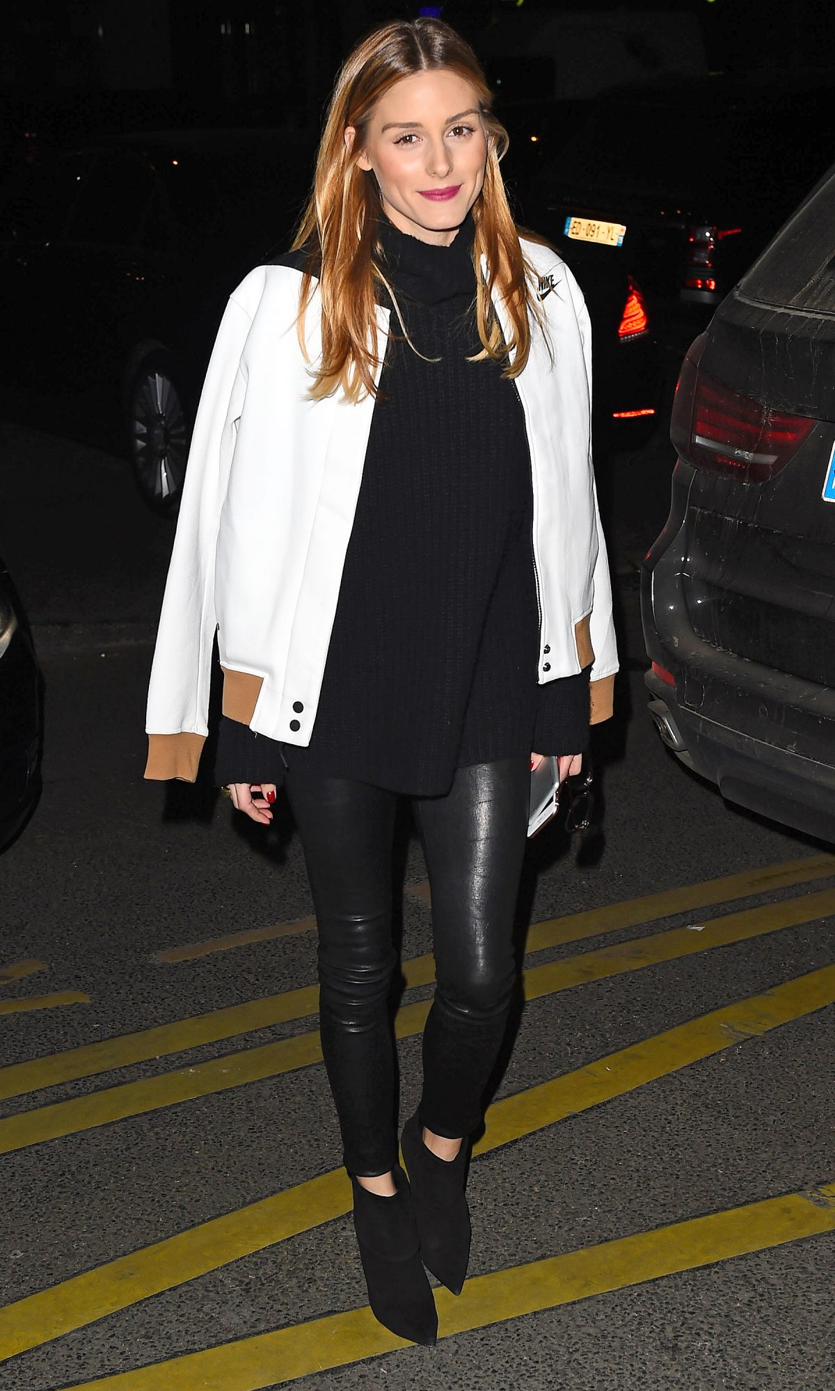 Olivia Palermo is seen at the Royal Monceau hotel in Paris
