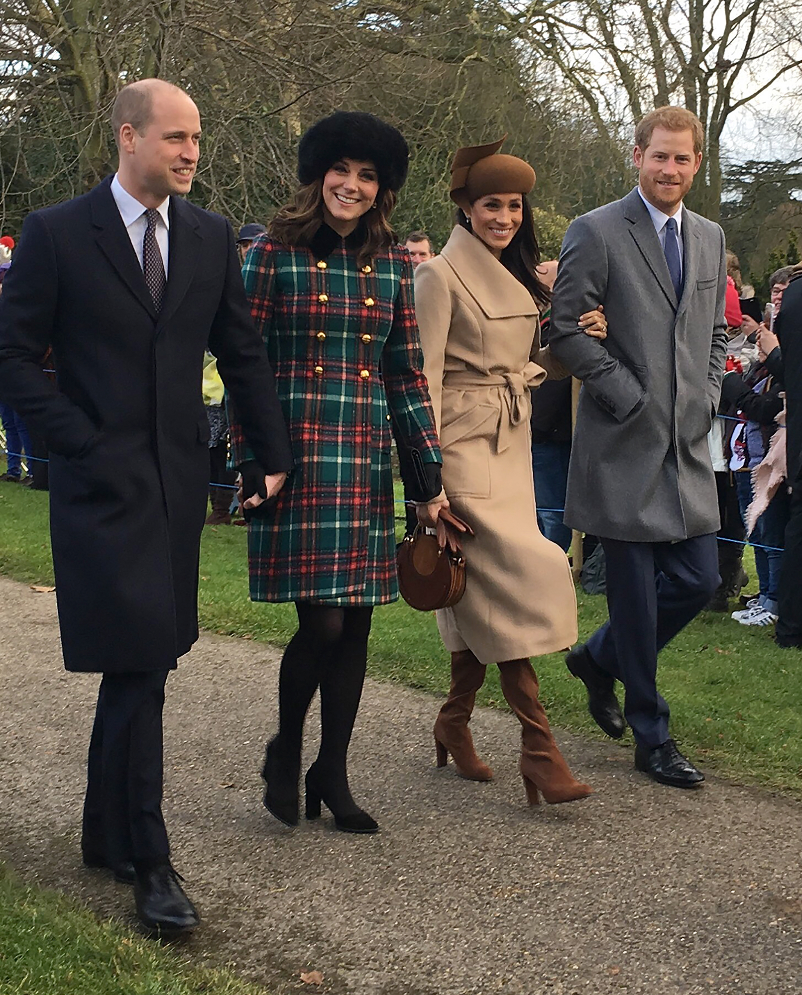 EXCLUSIVE: Meghan Markle, Prince Harry, Prince William, and Catherine, Duchess of Cambridge Attend Christmas Day Morning Service in England