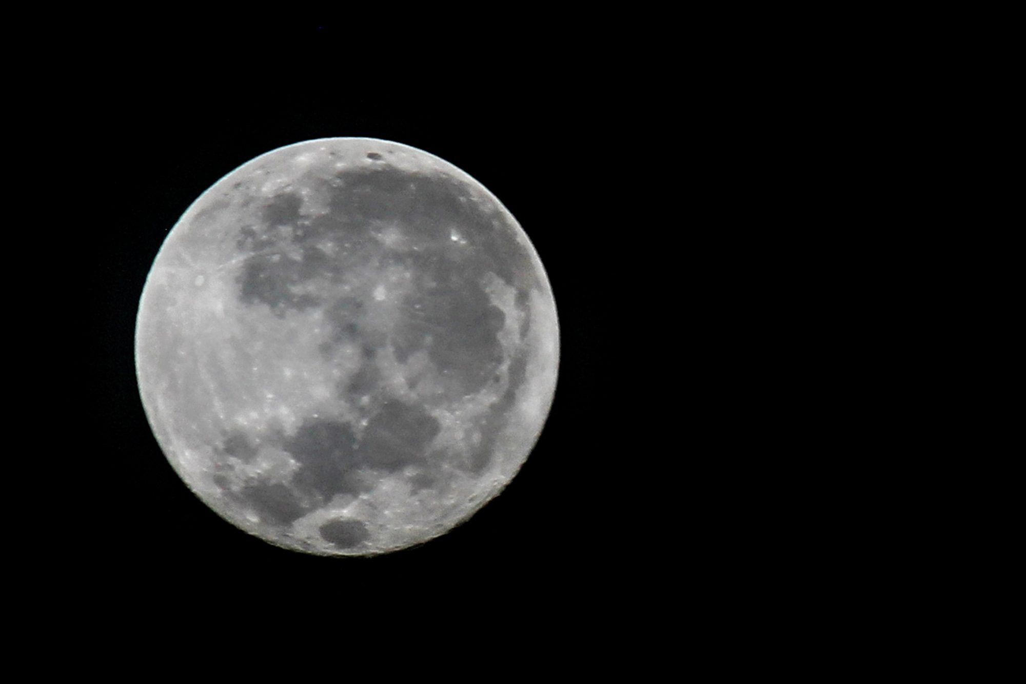 A View The Supermoon Phenomenon In Aceh, Indonesia