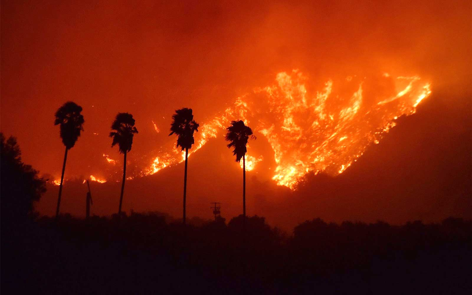 Thomas Fire which began in Ventura, California, USA - 05 Dec 2017