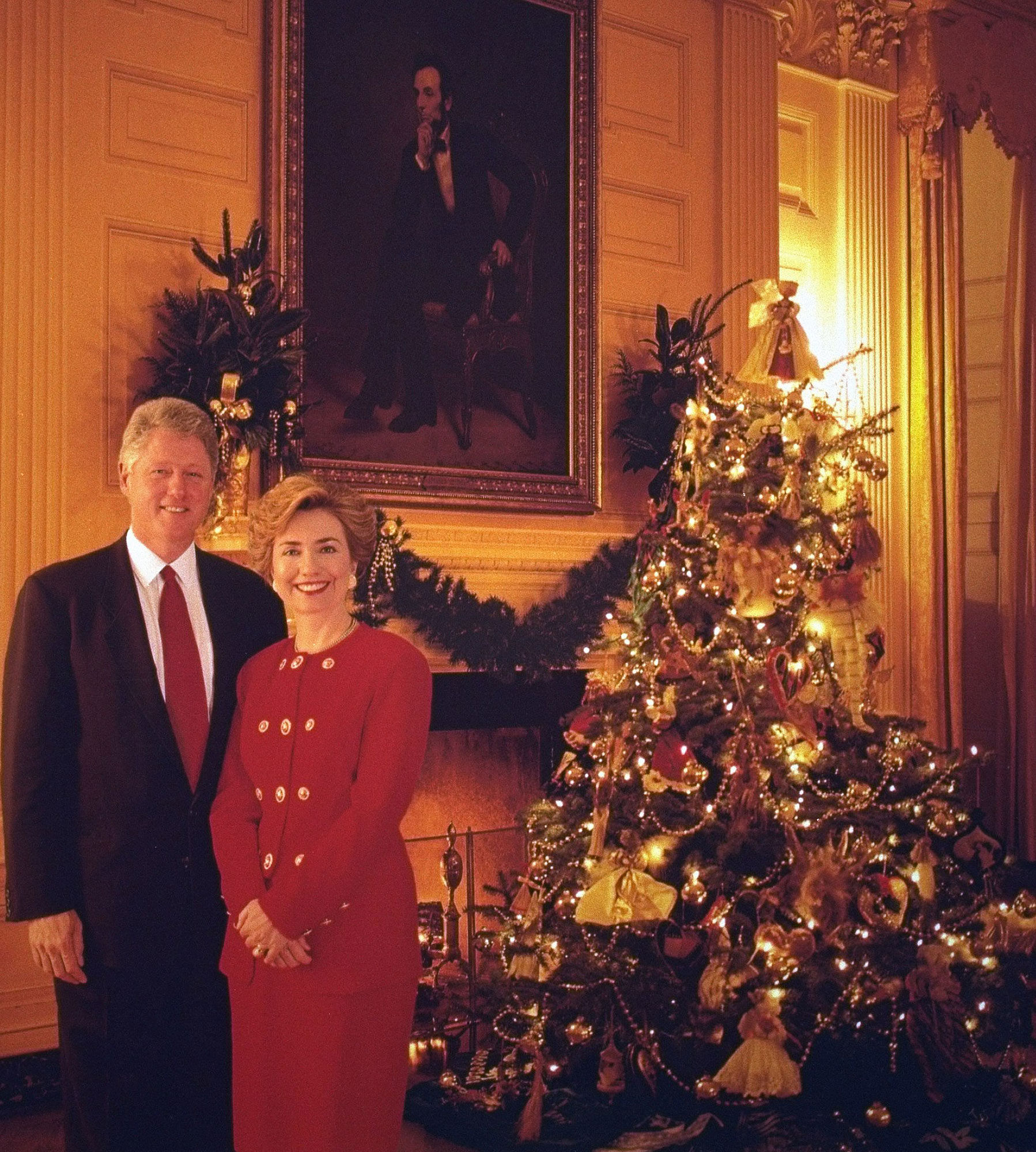 CLINTON CHRISTMAS CARD