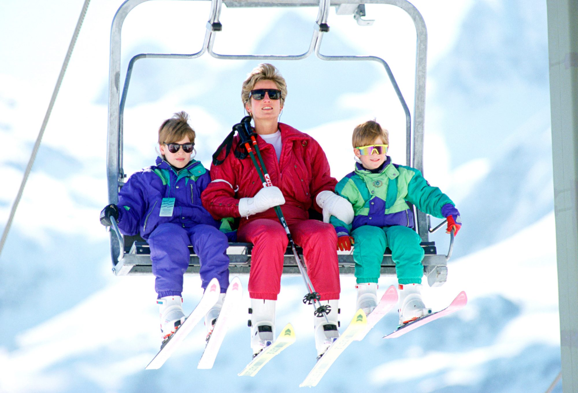 Diana William And Harry Skiing Holiday