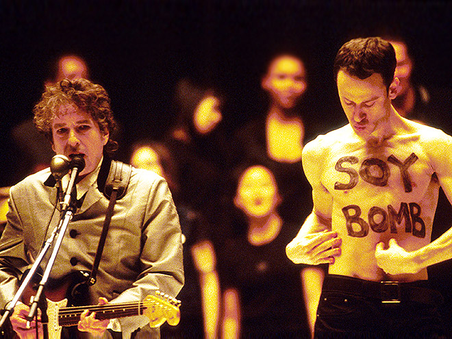 1998: BACK-UP DANCER 'SOY BOMBED' BOB DYLAN