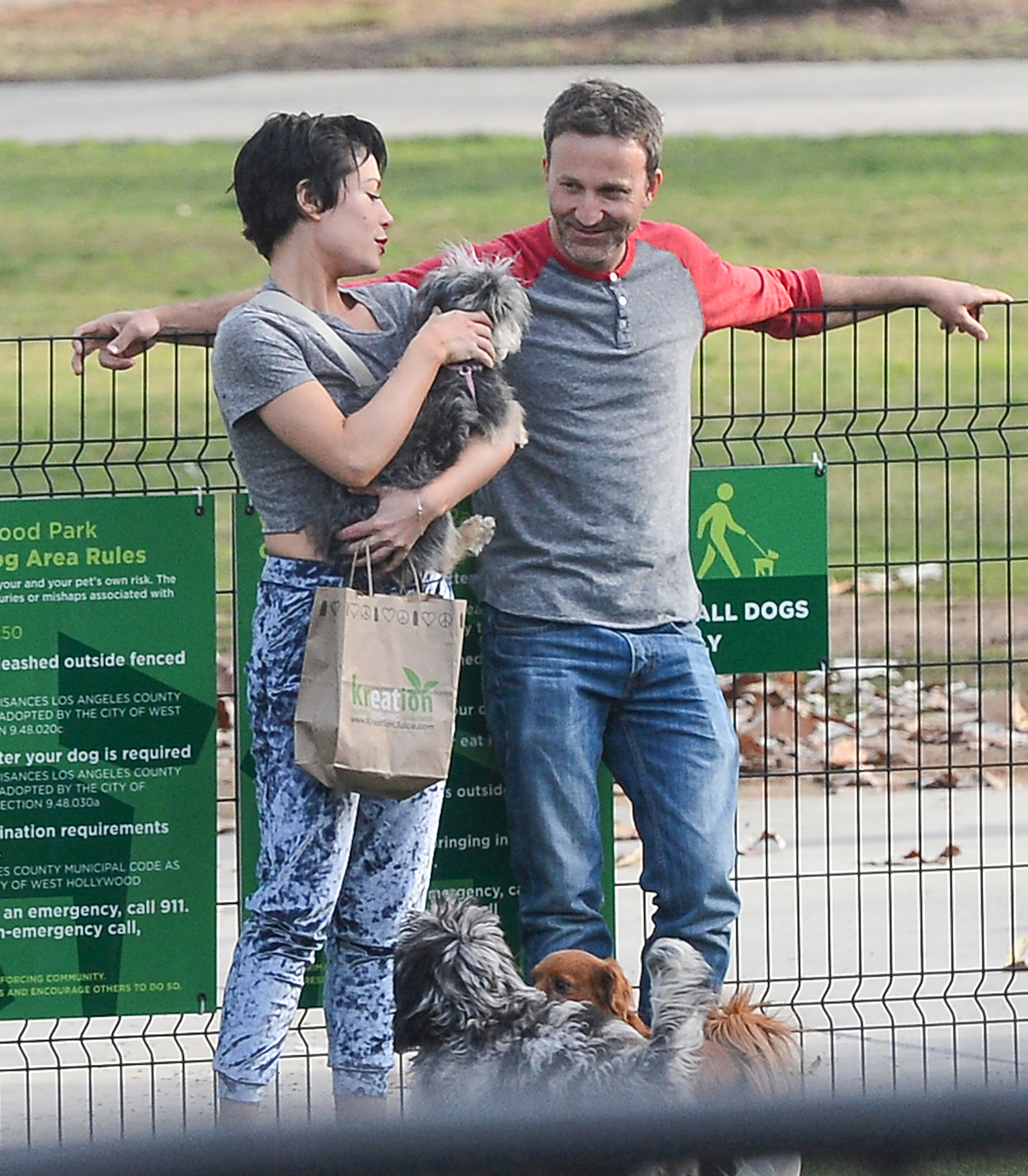 EXCLUSIVE: Breckin Meyer Gets Close to a Mystery Girl at a Dog Park in West Hollywood