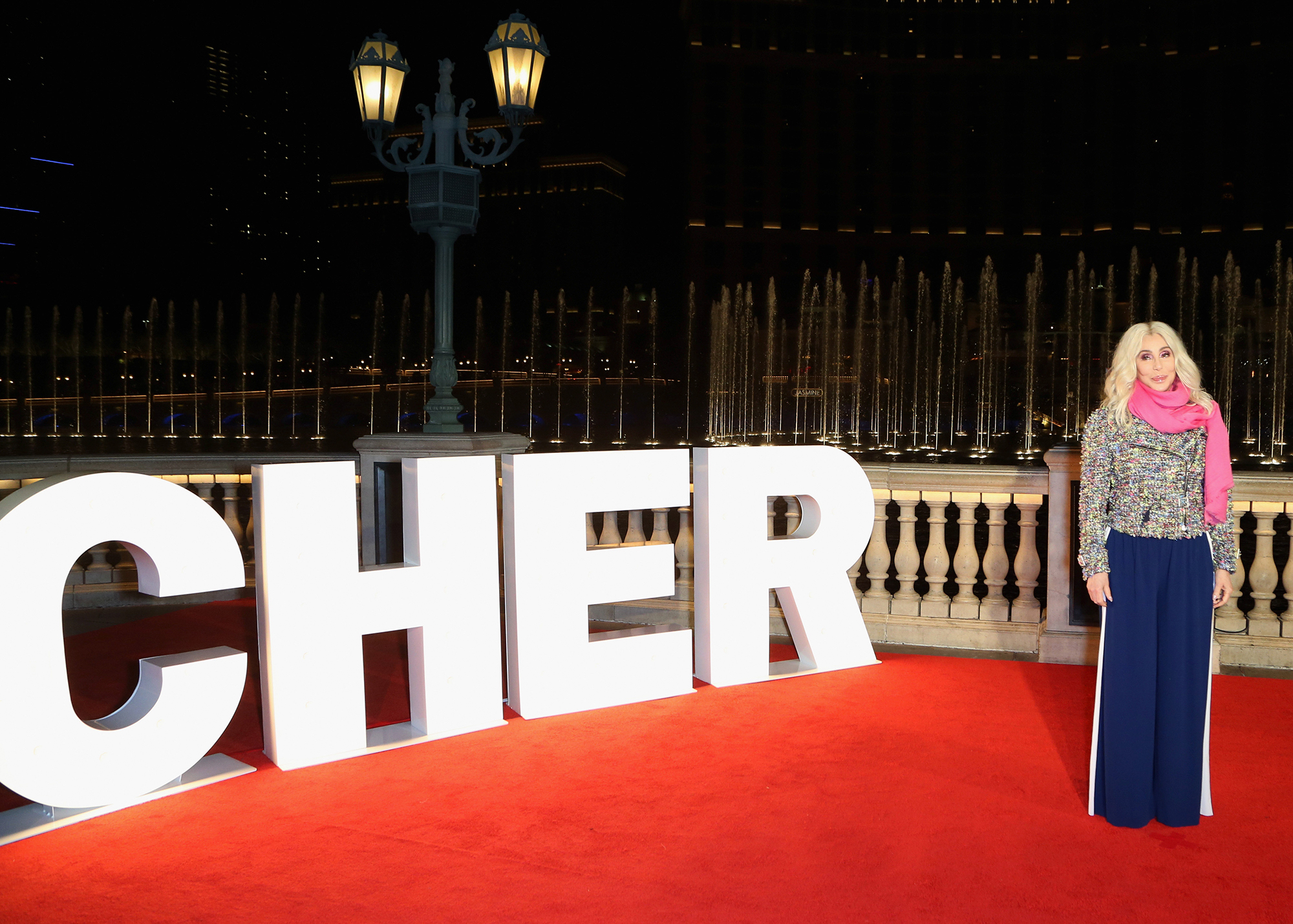 """Cher Unveils New Fountains Of Bellagio Show Choreographed To Her Song """"Believe"""""""