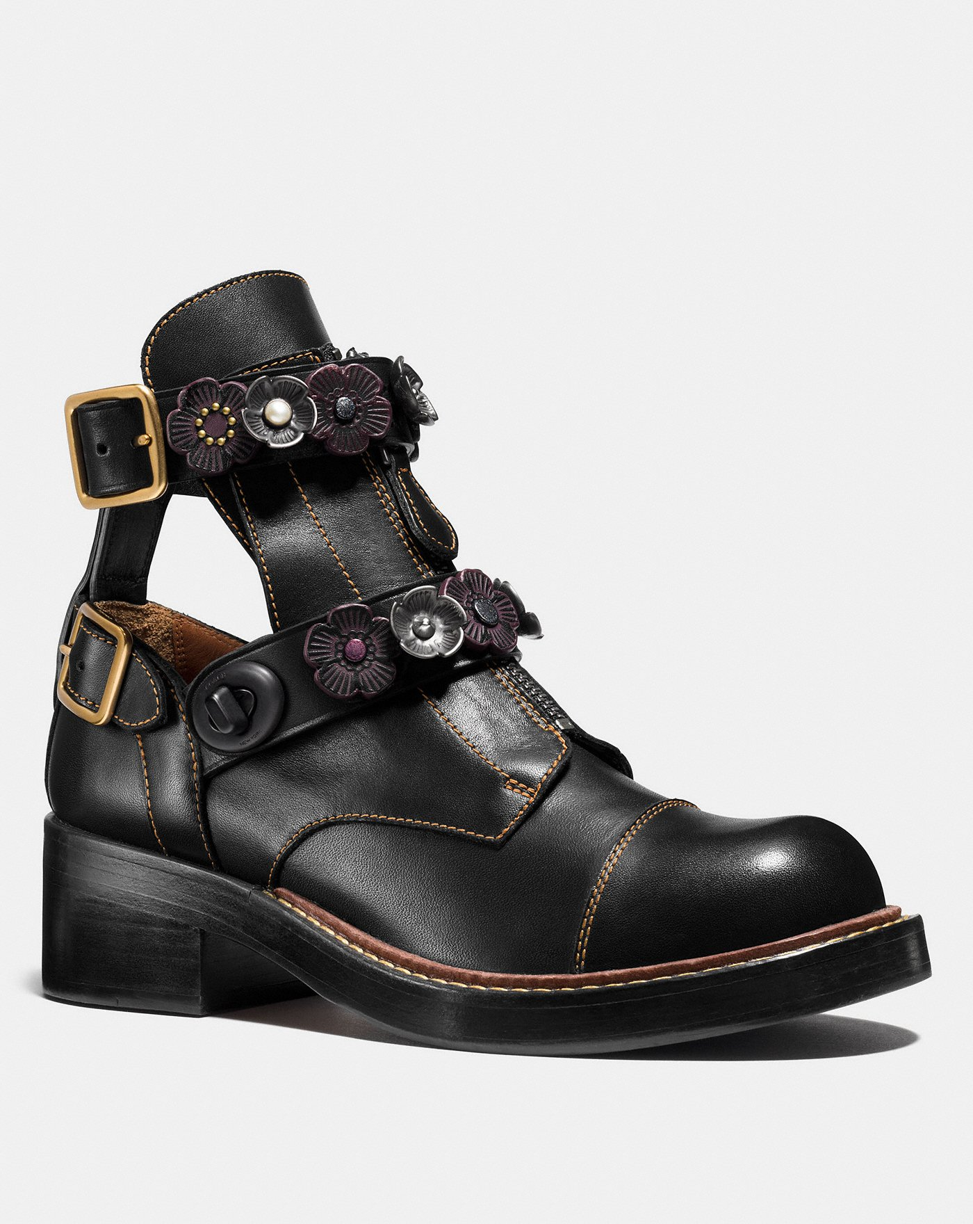 coach flower booties