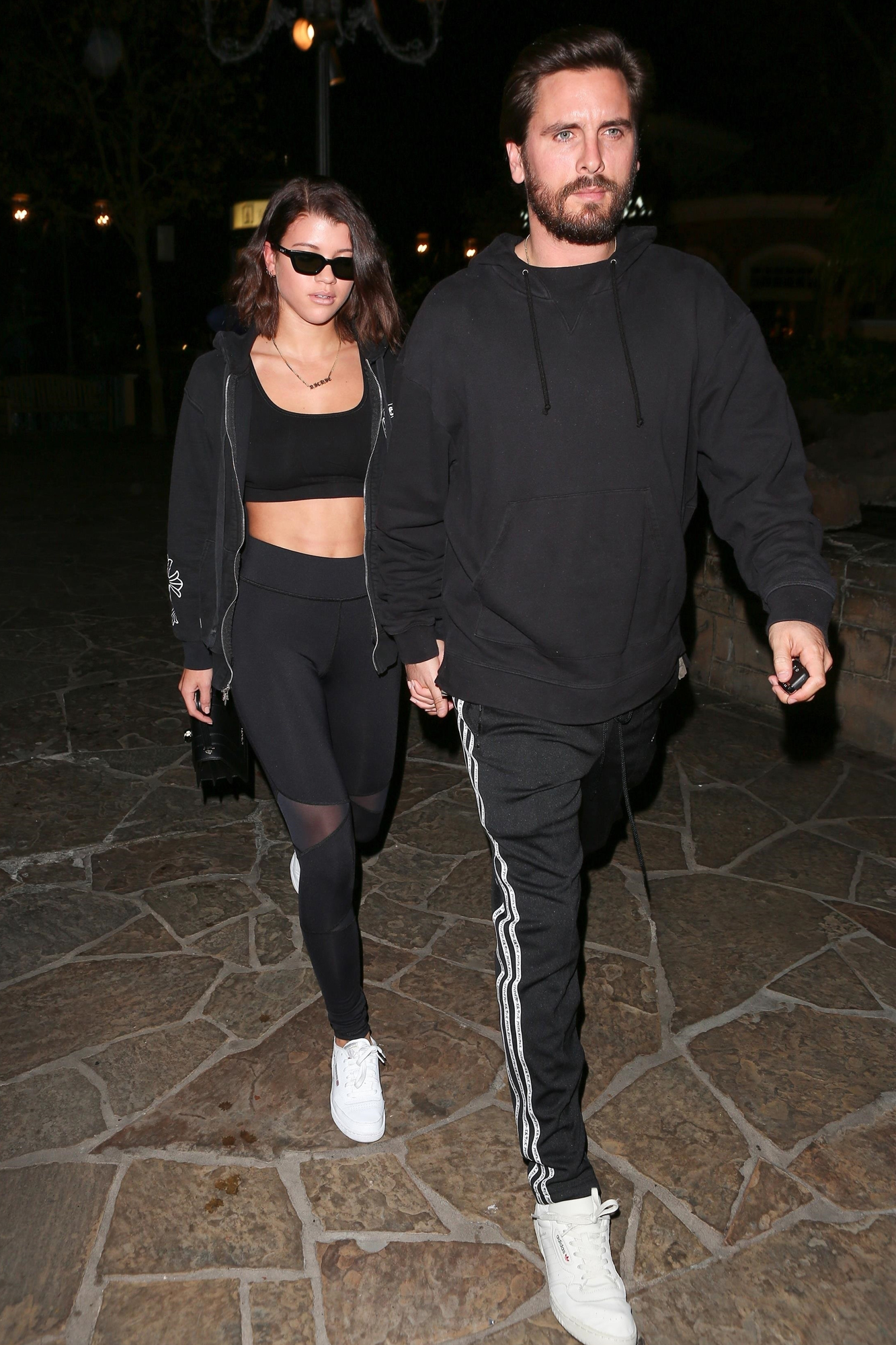 Scott Disick and Sofia Richie are hand-in-hand after a date night