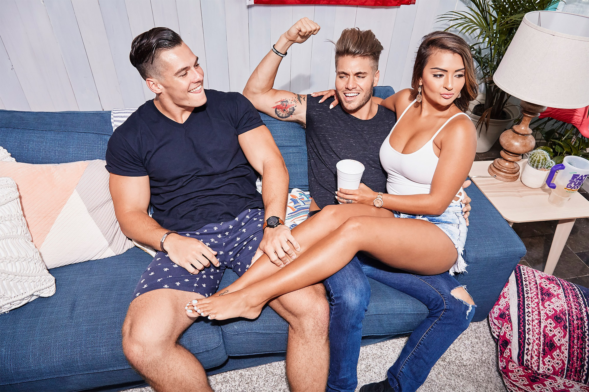Floribama Shore - Left to Right: Jeremiah, Gus, and NilsaCredit: MTV