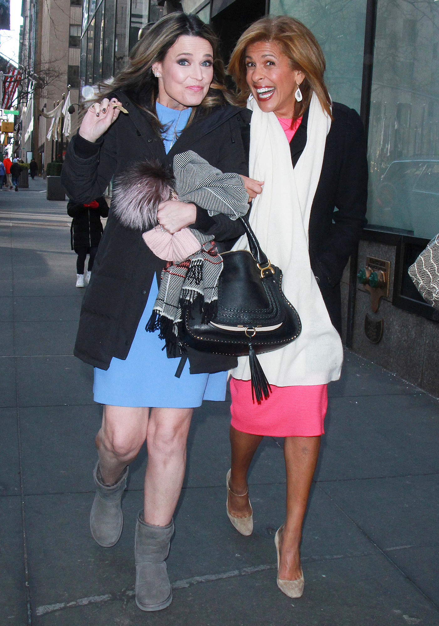 Savannah Guthrie and New Co-Anchor Hoda Kotb Outside of the Today Show
