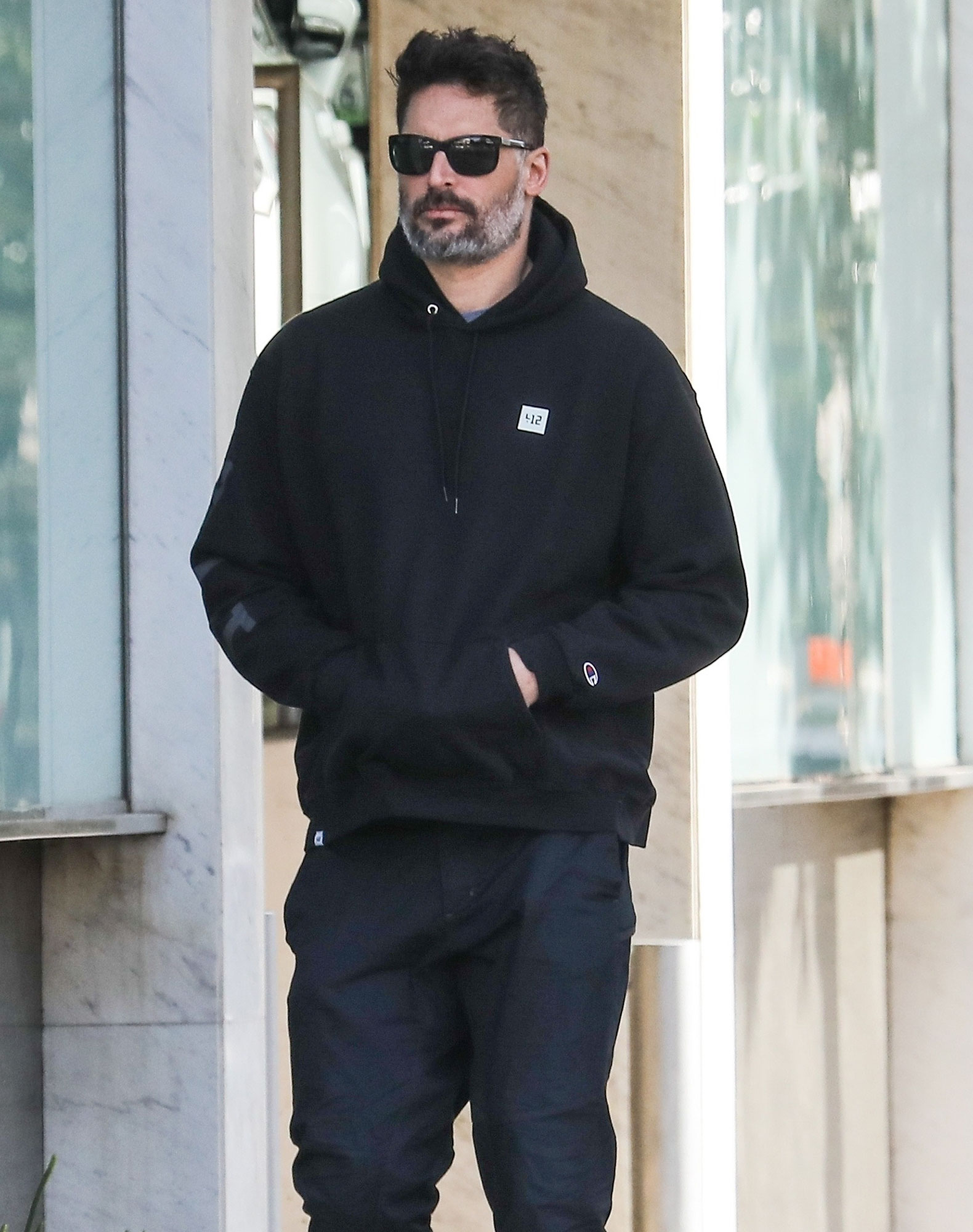 *EXCLUSIVE* Joe Manganiello heads out to grab breakfast from New York Water Bagel Eatery