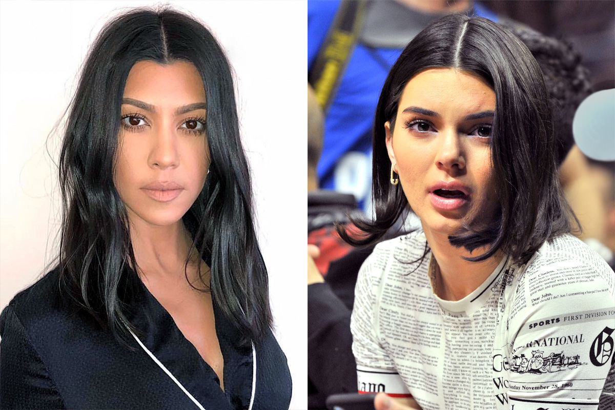 Kendall Jenner And Kourtney Kardashians Both Show Off New Haircuts People Com
